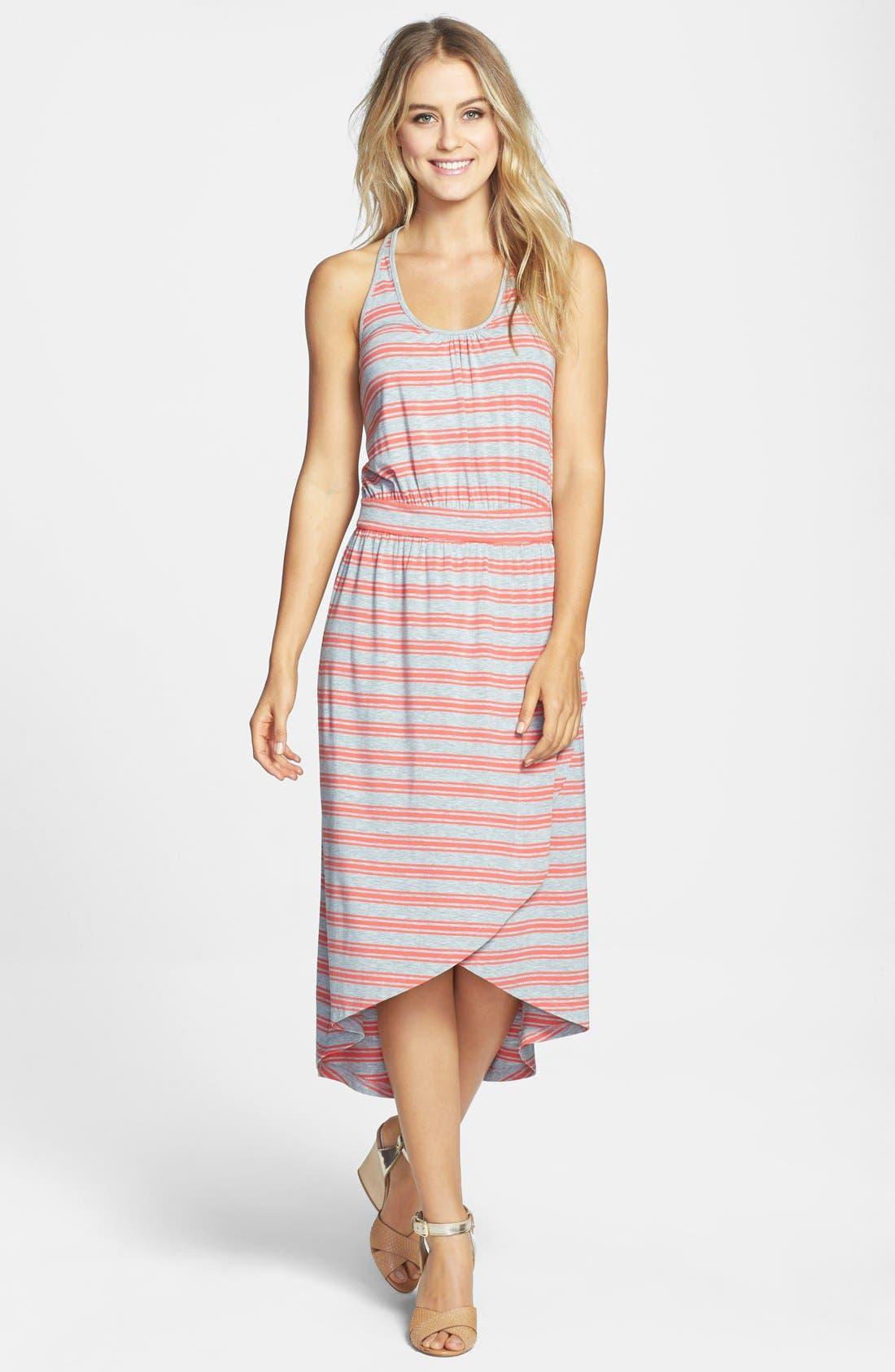 Main Image - Caslon® Midi Faux Wrap Halter Dress (Regular & Petite)