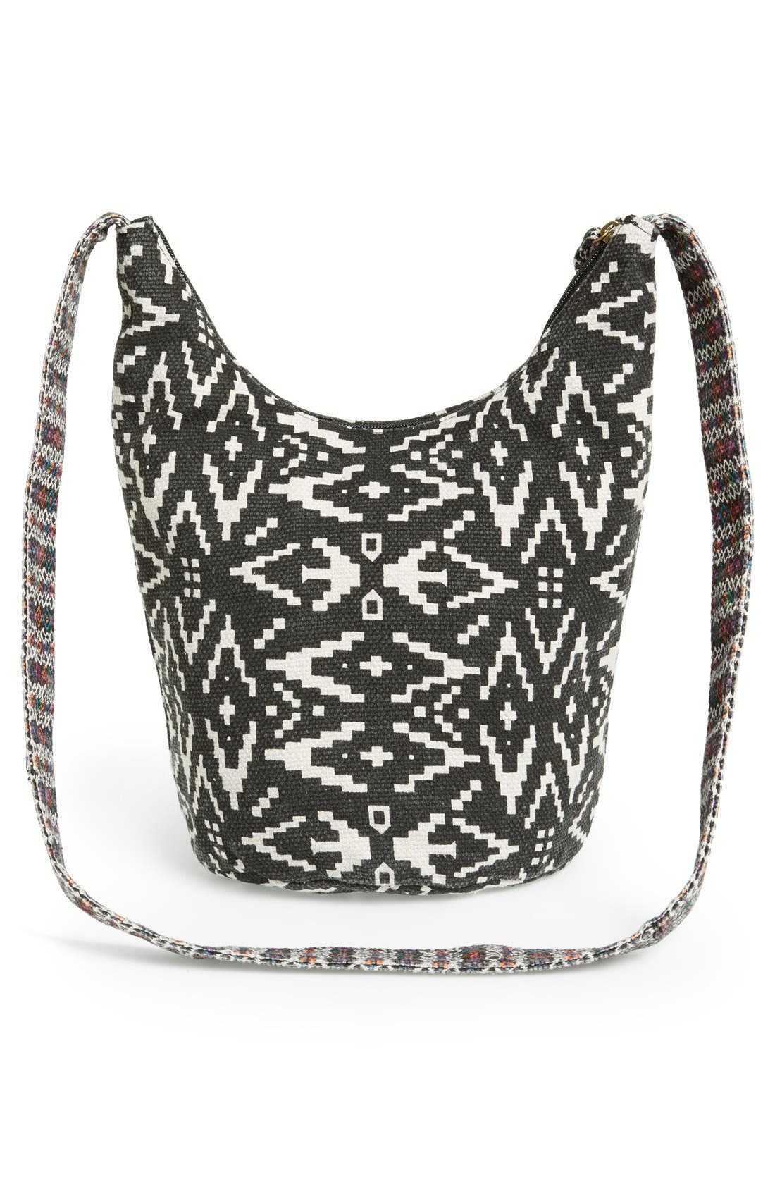 Alternate Image 3  - Lulu Geo Print Canvas Crossbody Bag (Juniors) (Online Only)