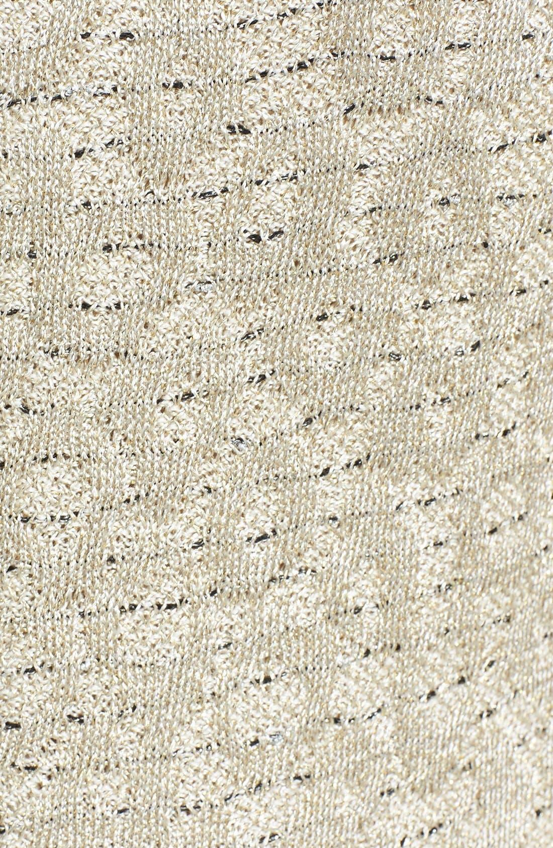 Alternate Image 3  - St. John Collection Leopard Jacquard Knit Mock Two-Piece Dress