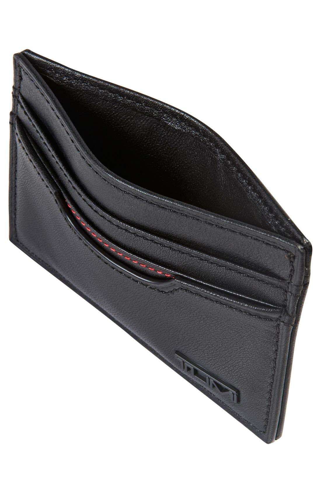 Delta - ID Lock<sup>™</sup> Shielded Slim Card Case & ID Wallet,                             Alternate thumbnail 3, color,                             Black