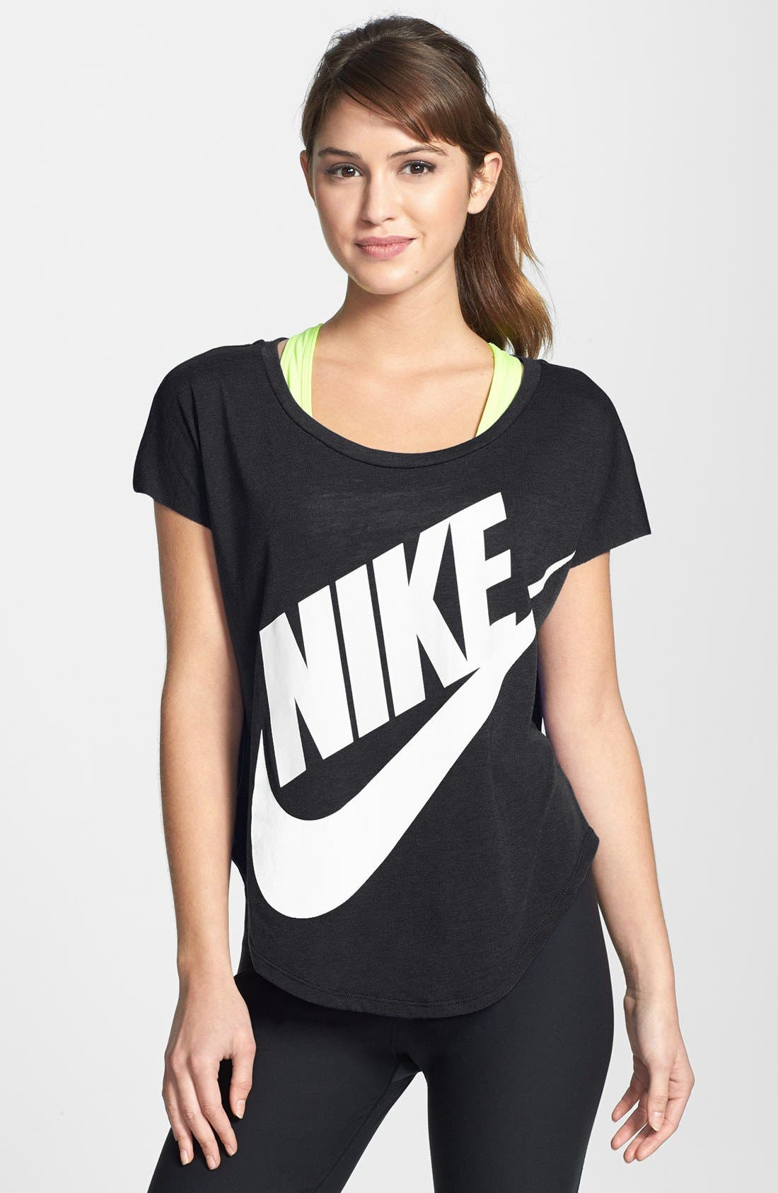 Main Image - Nike 'Signal' Short Sleeve Logo Tee
