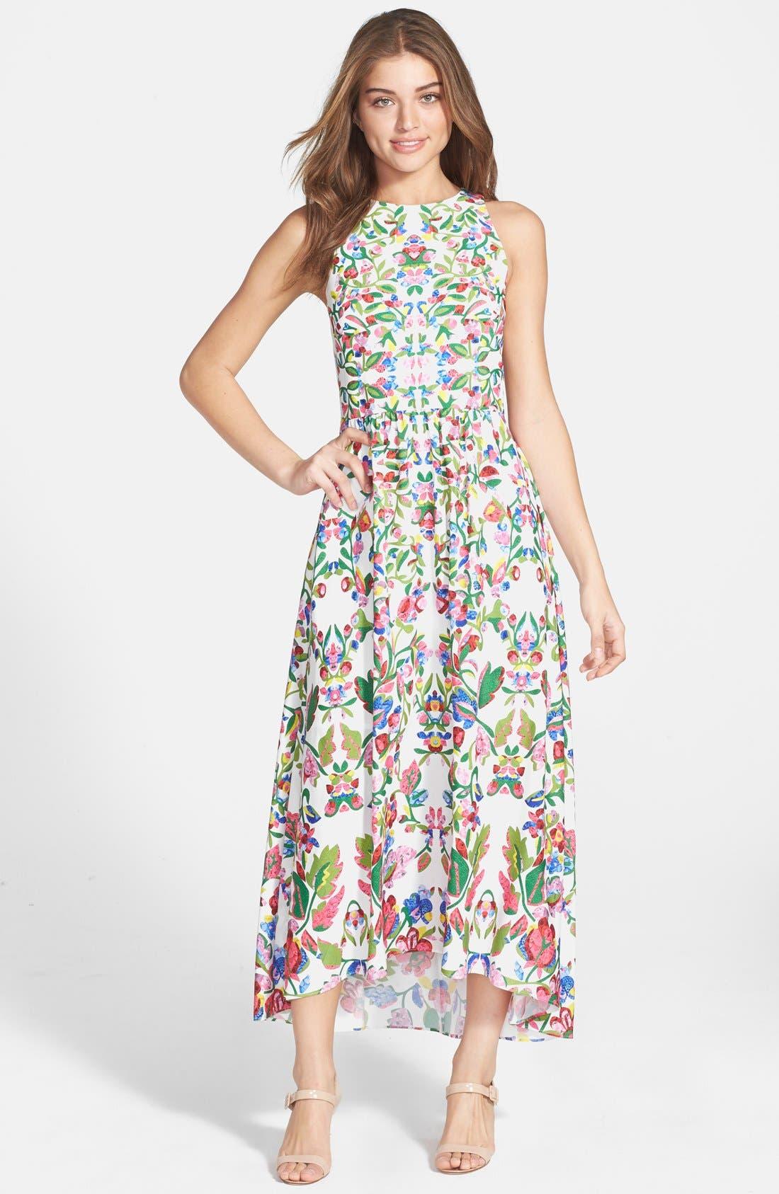 Alternate Image 1 Selected - Cynthia Steffe Print Fit & Flare Midi Dress