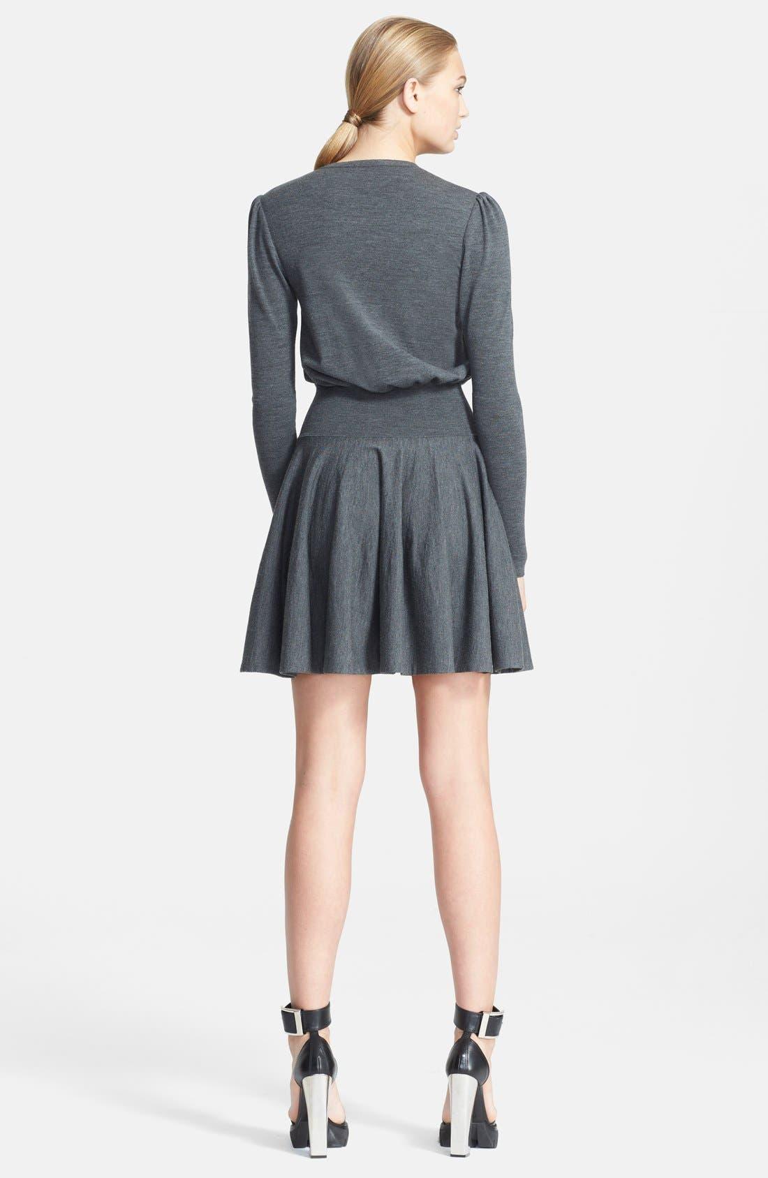 Alternate Image 2  - Alexander McQueen Fit & Flare Knit Dress