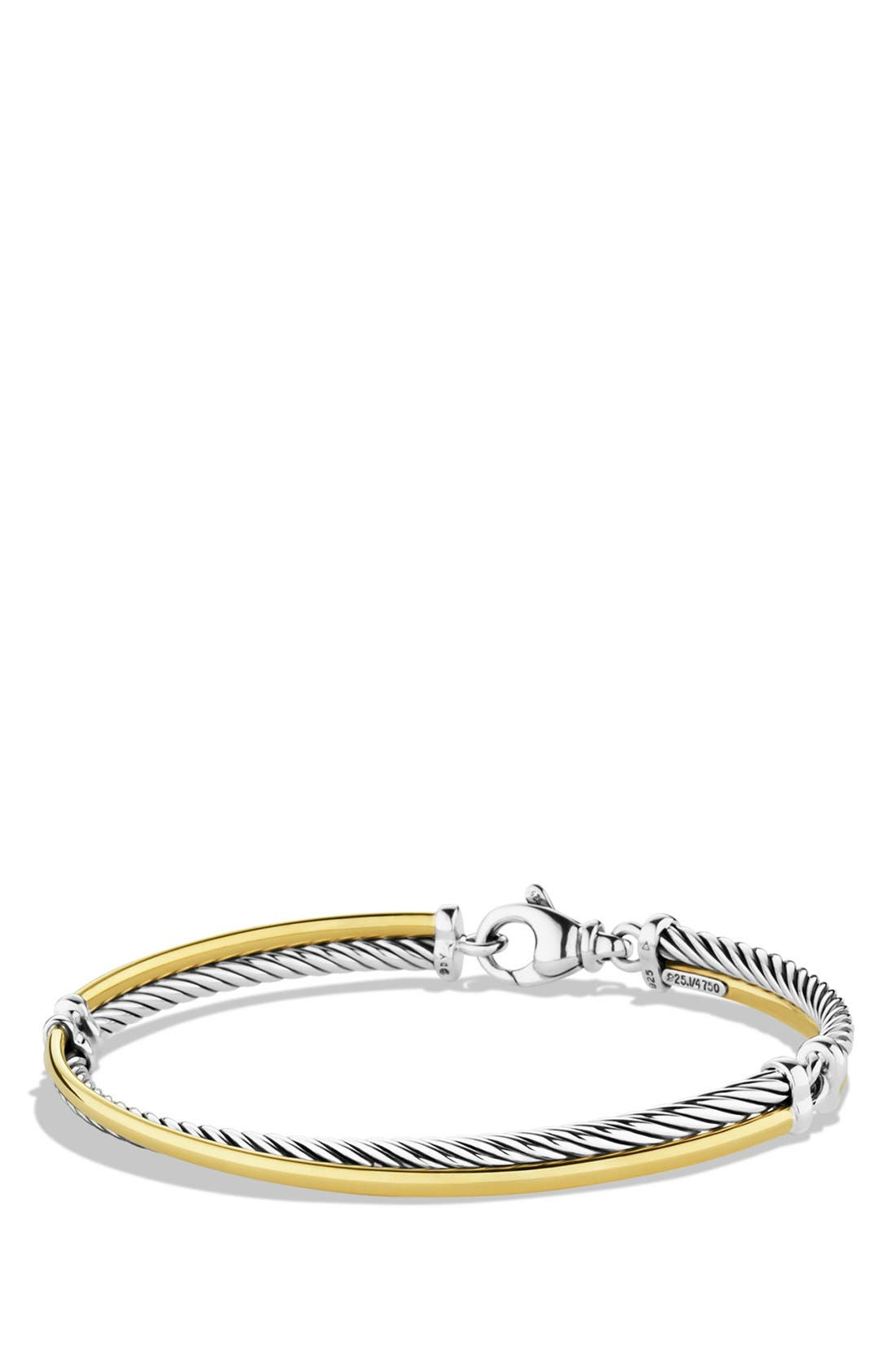 'Crossover' Bracelet with Gold,                             Main thumbnail 1, color,                             Two Tone