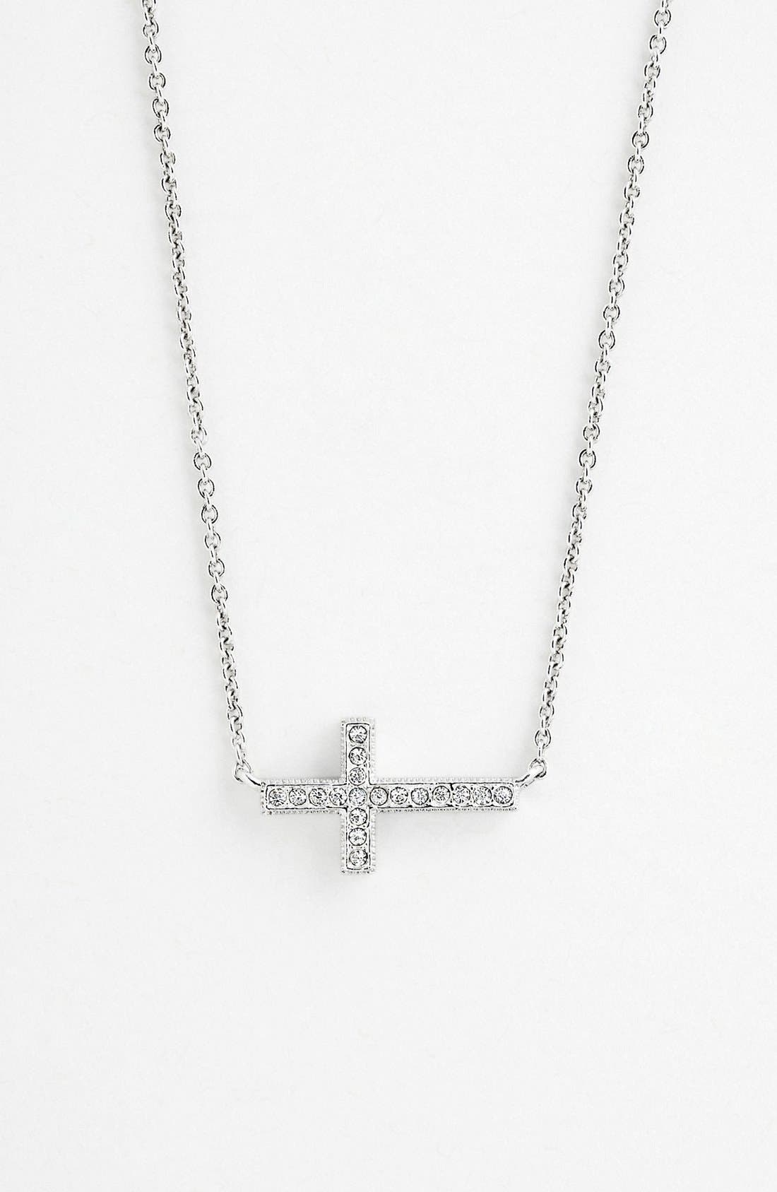 Alternate Image 1 Selected - Nadri Cross Pendant Necklace (Nordstrom Exclusive)