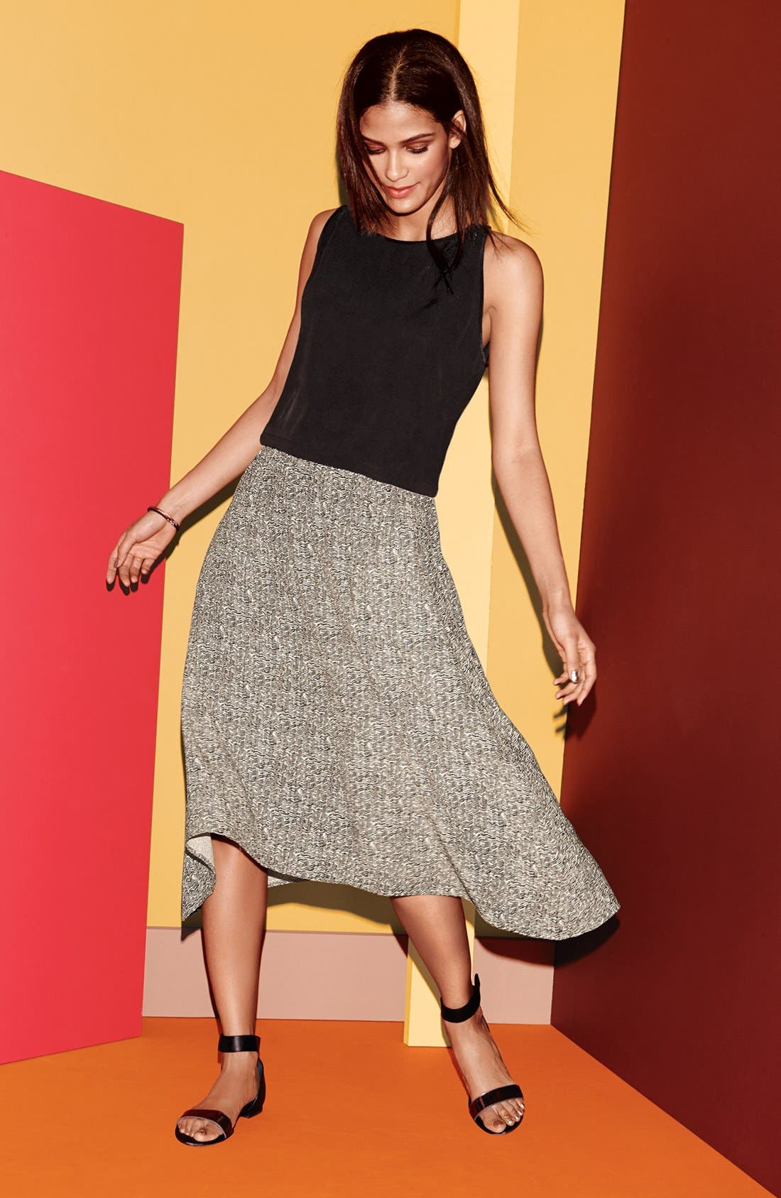 Alternate Image 4  - Eileen Fisher Print Midi Skirt