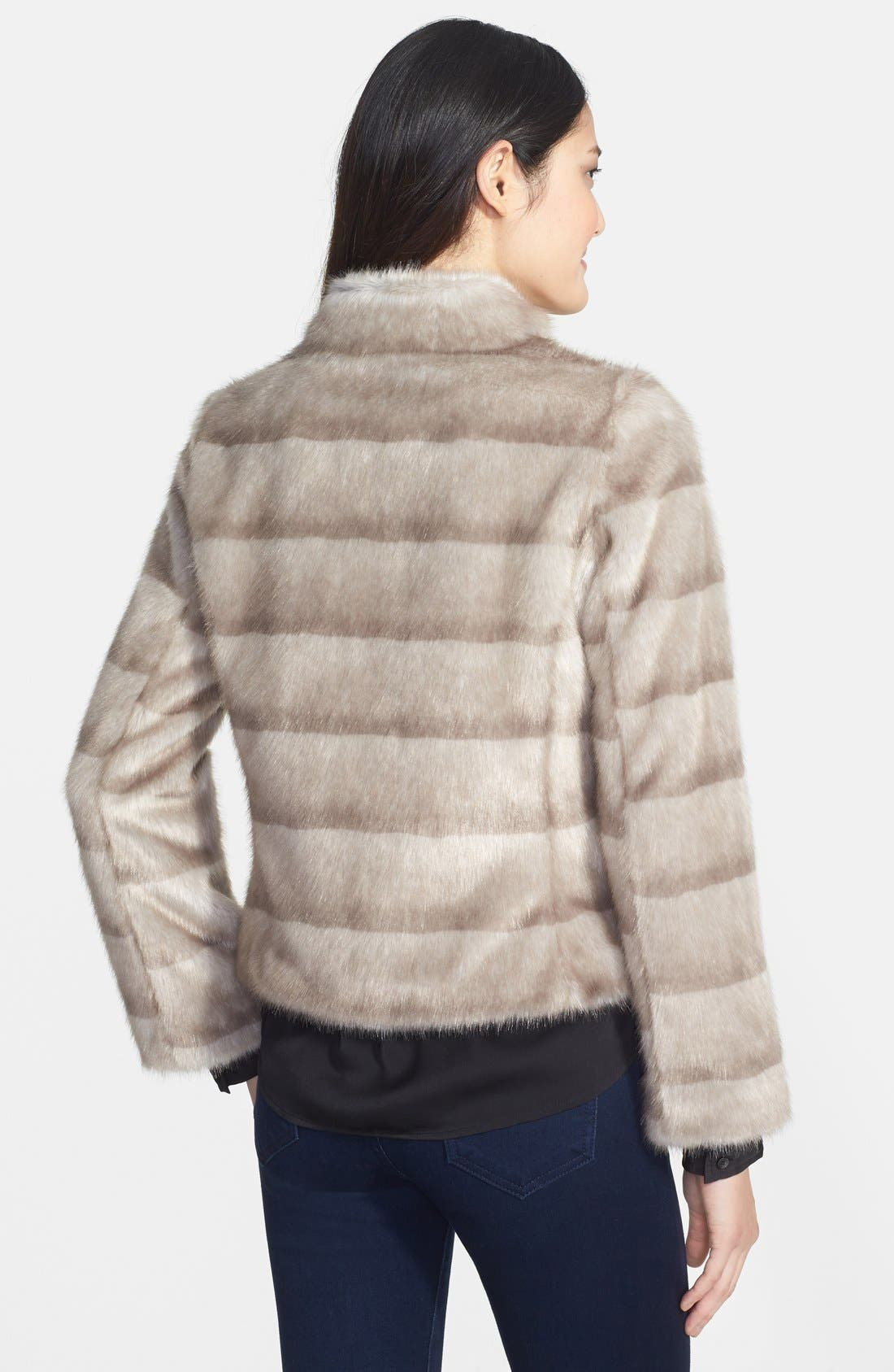 Alternate Image 2  - Kristen Blake Faux Mink Jacket (Online Only)