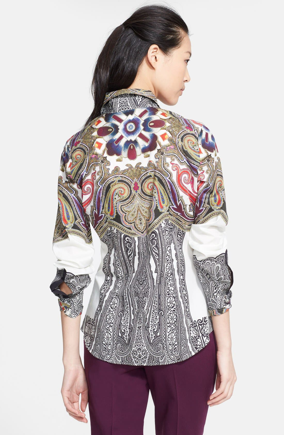 Alternate Image 2  - Etro Print Stretch Cotton Blouse