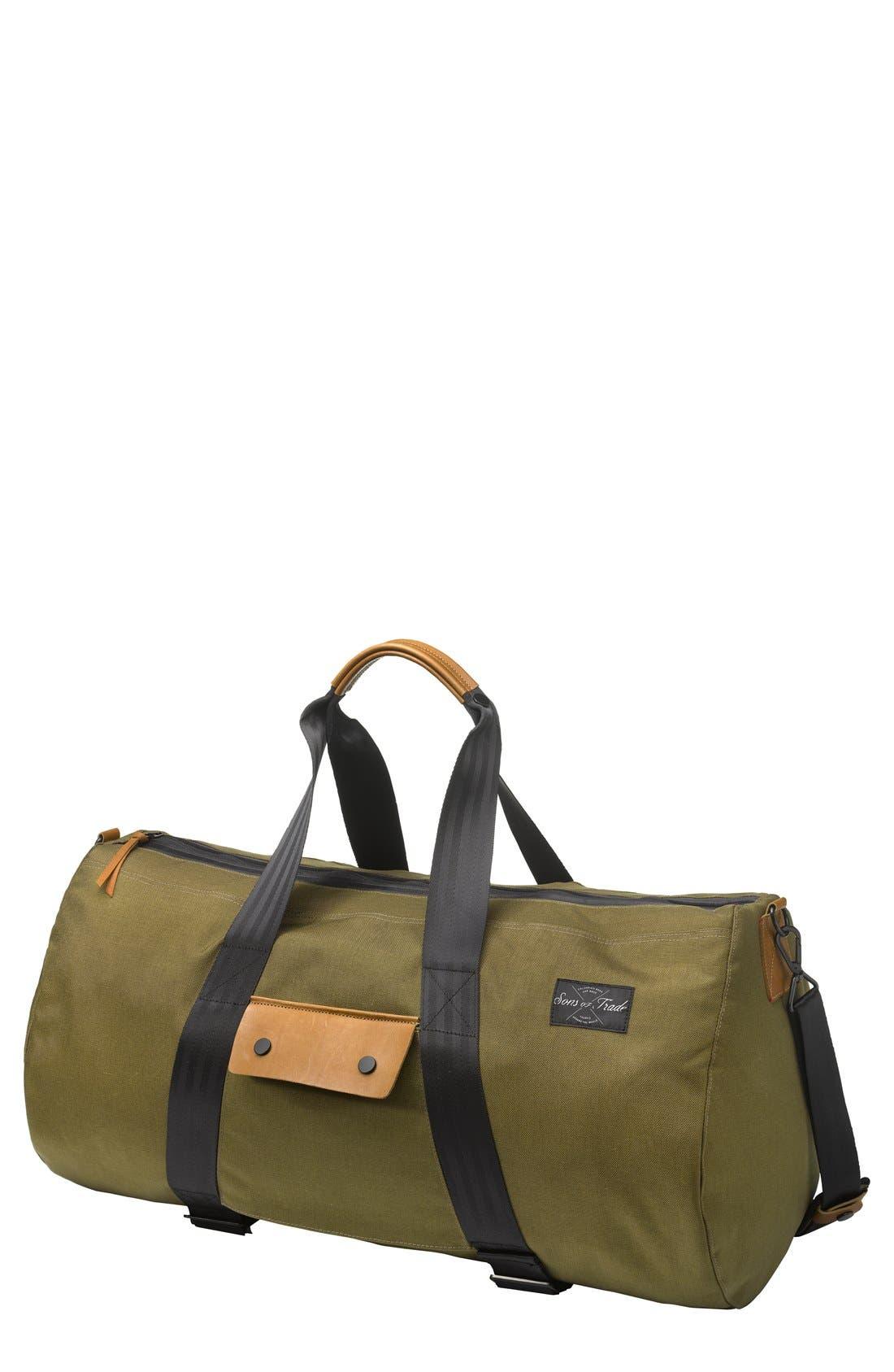 'Atlas' Duffel Bag,                         Main,                         color, Moss