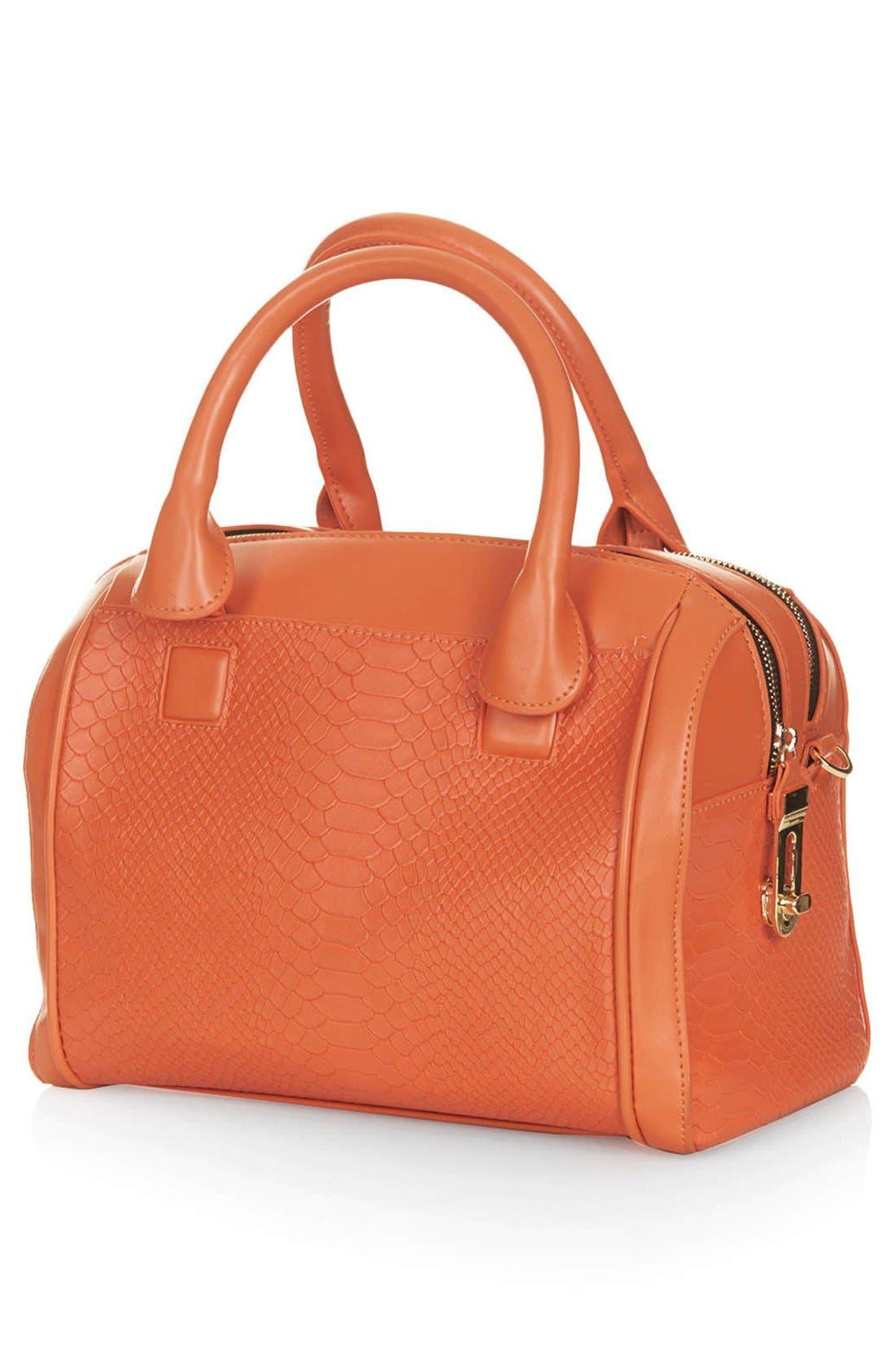 Alternate Image 4  - Topshop Double Zip Faux Leather Bag