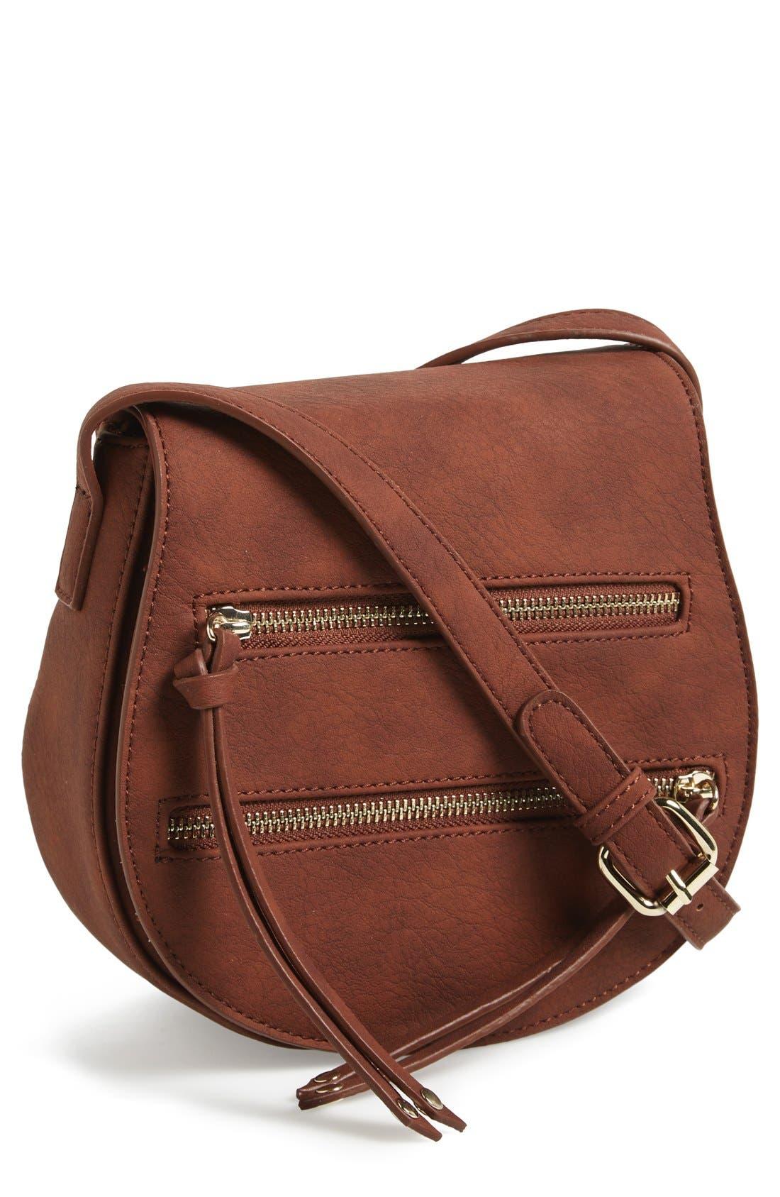 Main Image - BP. Zip Detail Saddle Crossbody Bag (Juniors)