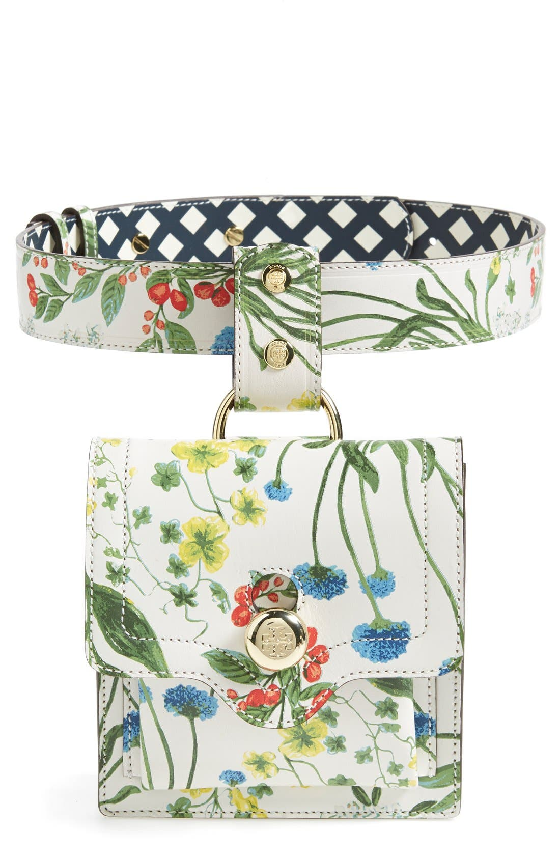 Alternate Image 1 Selected - Tory Burch Print Leather Belt Bag