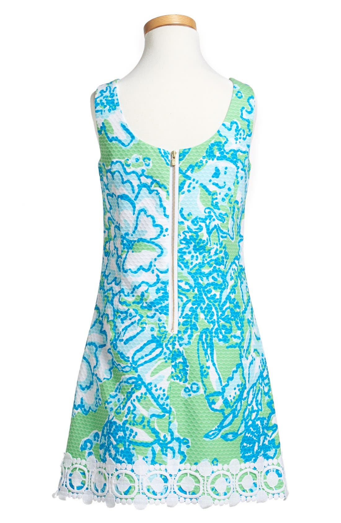 Alternate Image 2  - Lilly Pulitzer® 'Little Delia' Sleeveless Piqué Dress (Little Girls & Big Girls)