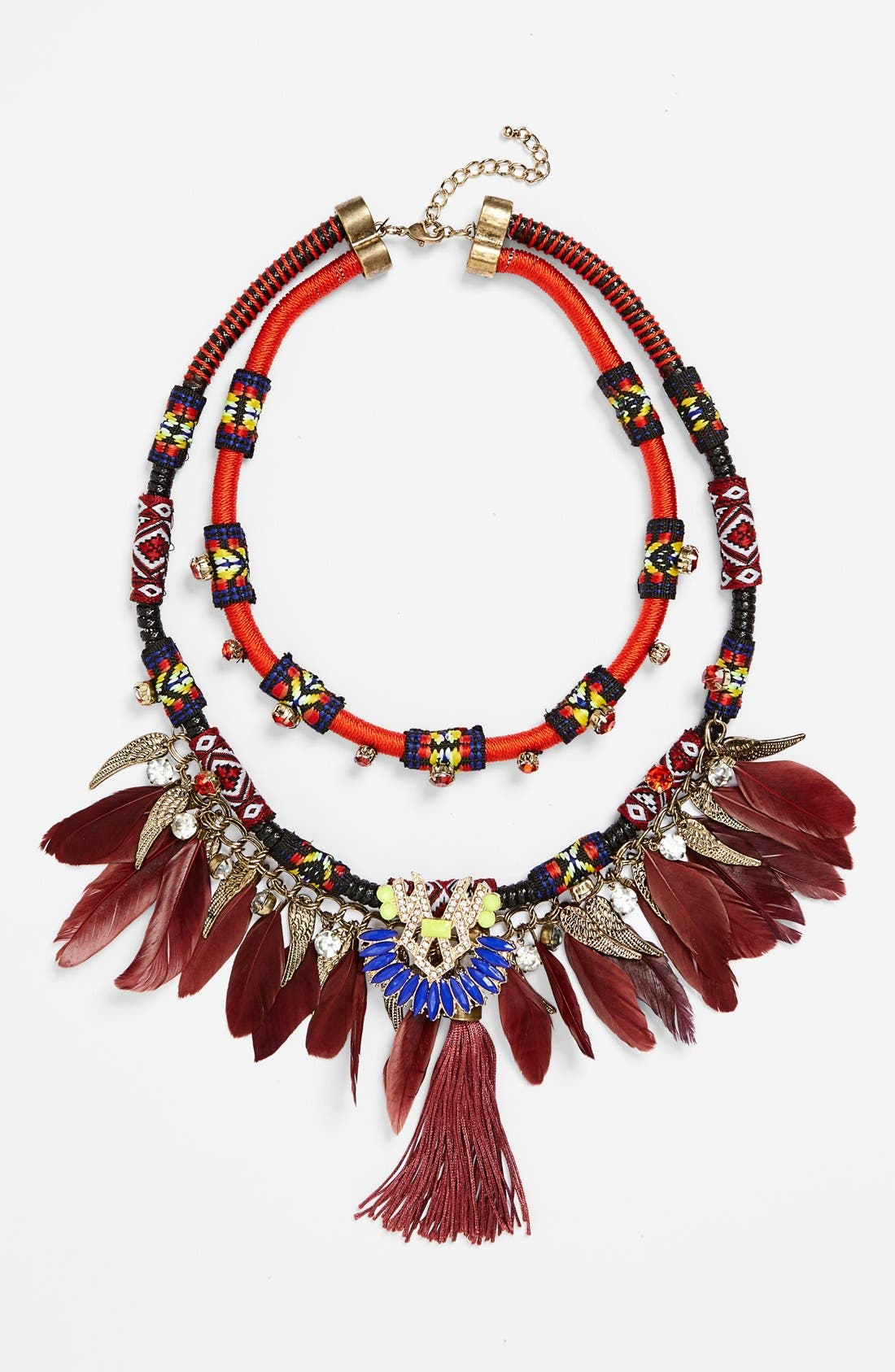 Alternate Image 1 Selected - Leith Feather Statement Necklace