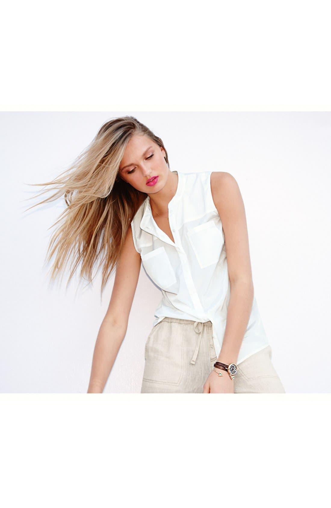 Alternate Image 4  - Halogen® Banded Collar Sleeveless Blouse (Regular & Petite)