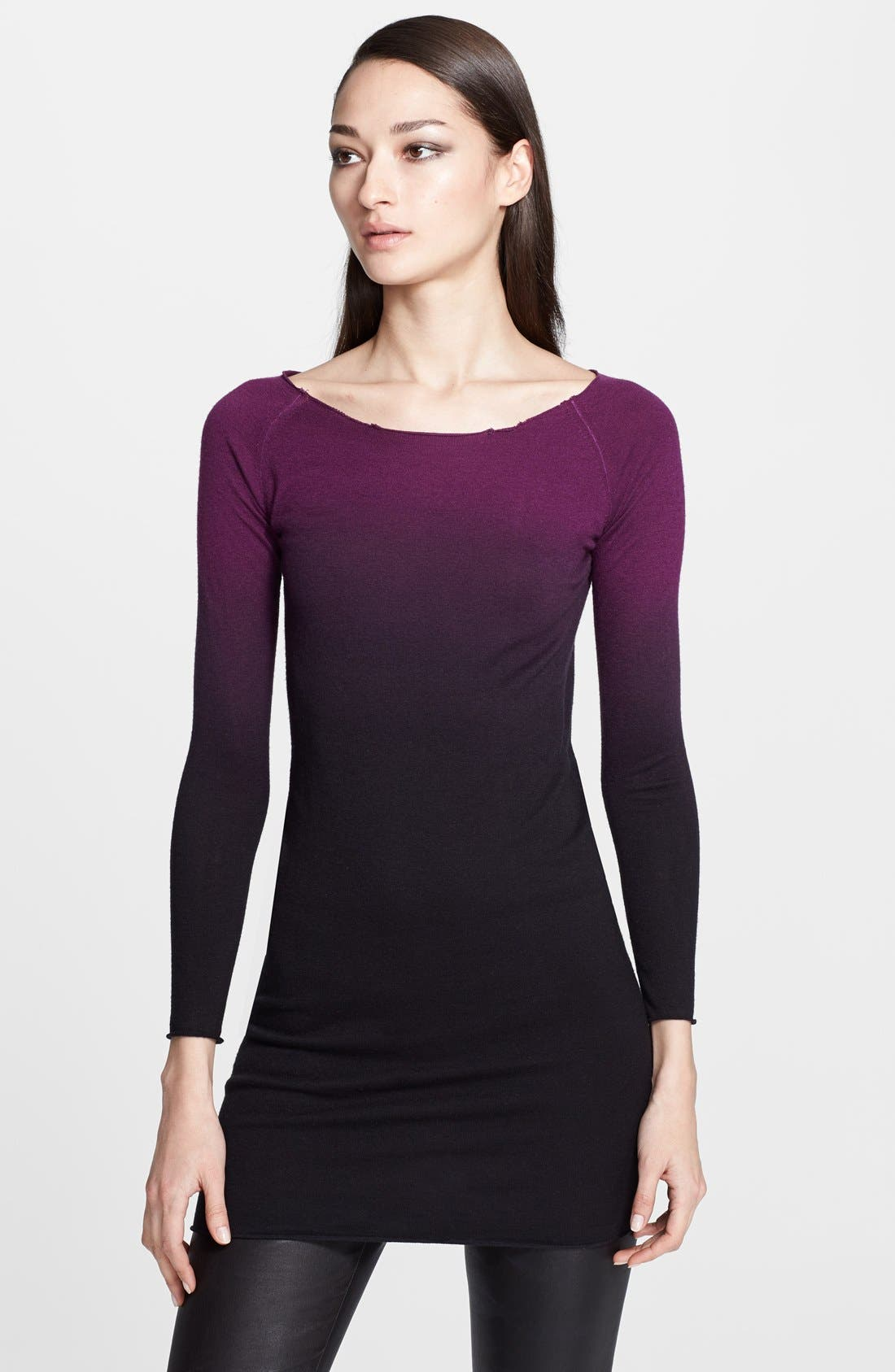 Alternate Image 1 Selected - Donna Karan Collection Ombré Cashmere Sweater