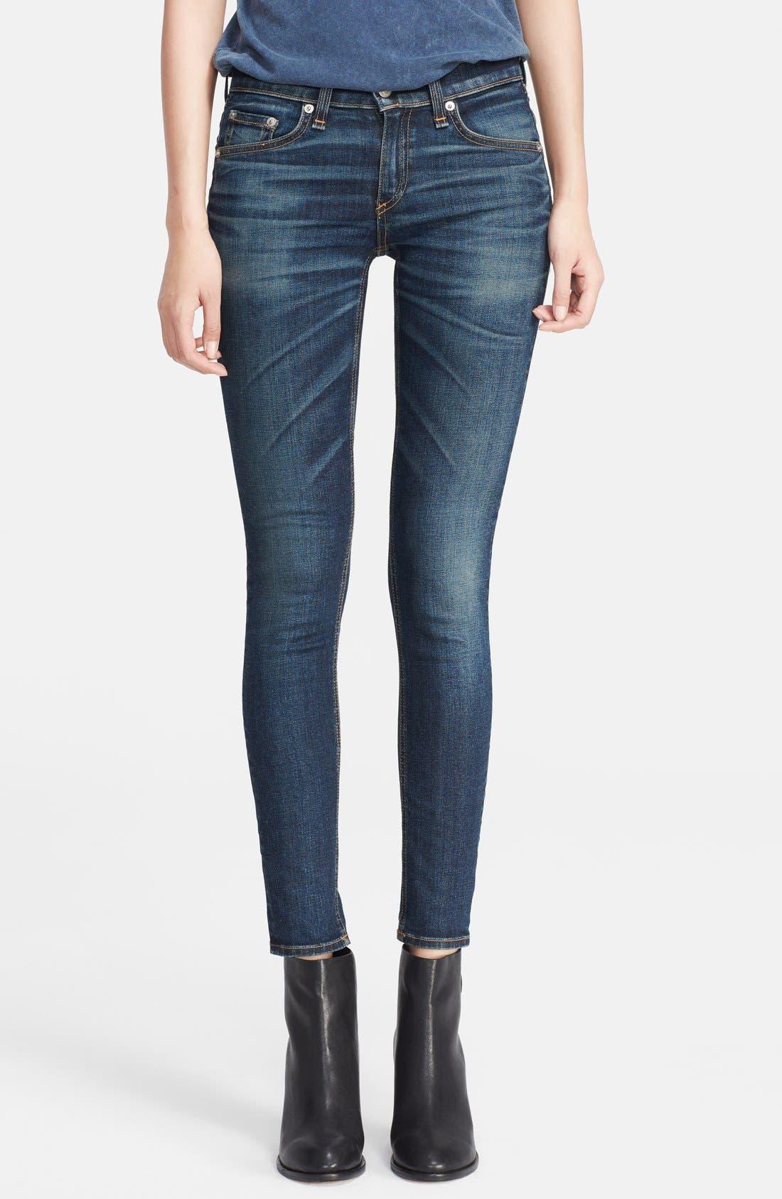 Alternate Image 1 Selected - rag & bone/JEAN Skinny Stretch Jeans (Doheny)
