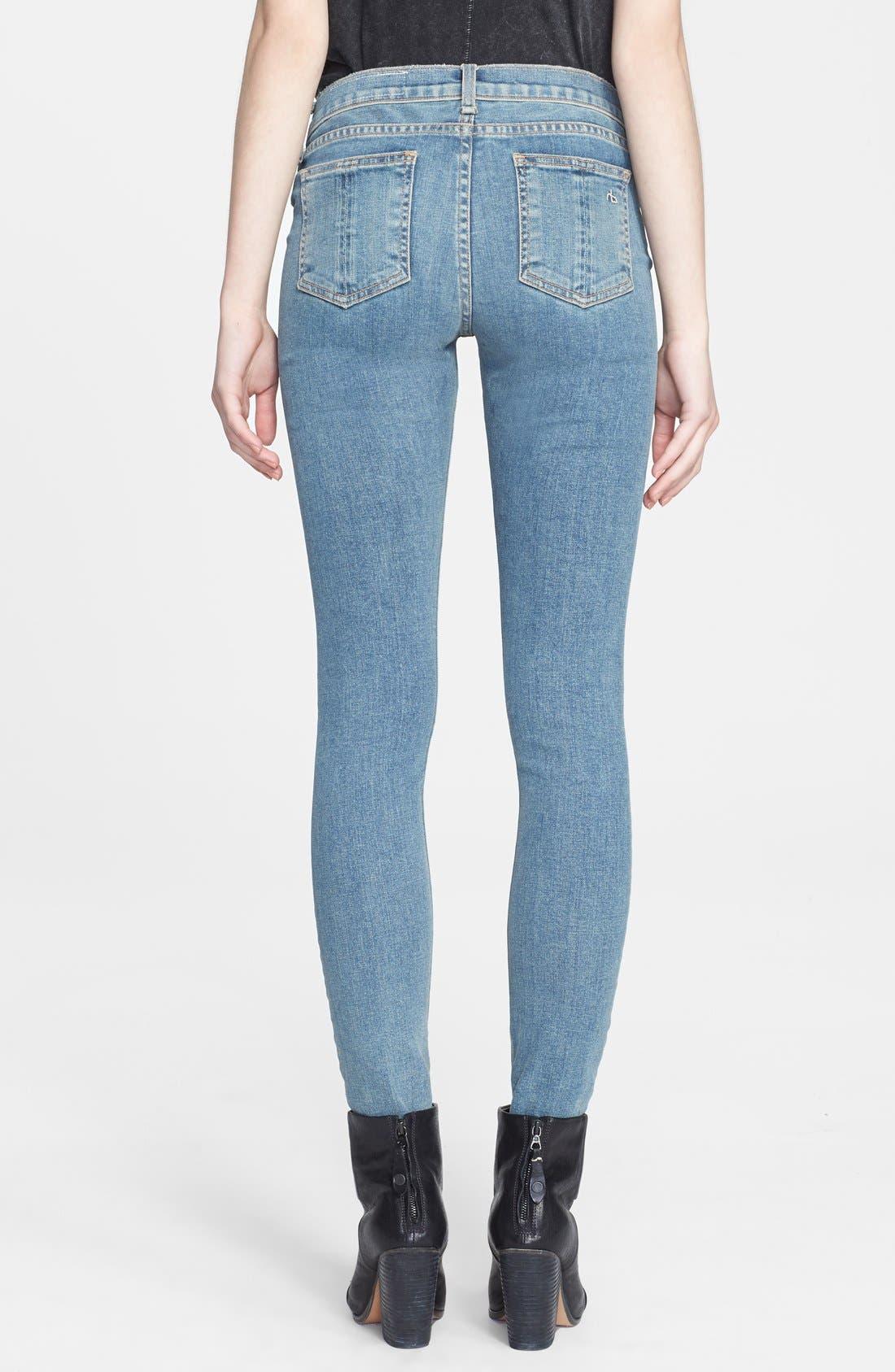 Alternate Image 2  - rag & bone/JEAN Stretch Skinny Jeans (Water Street)