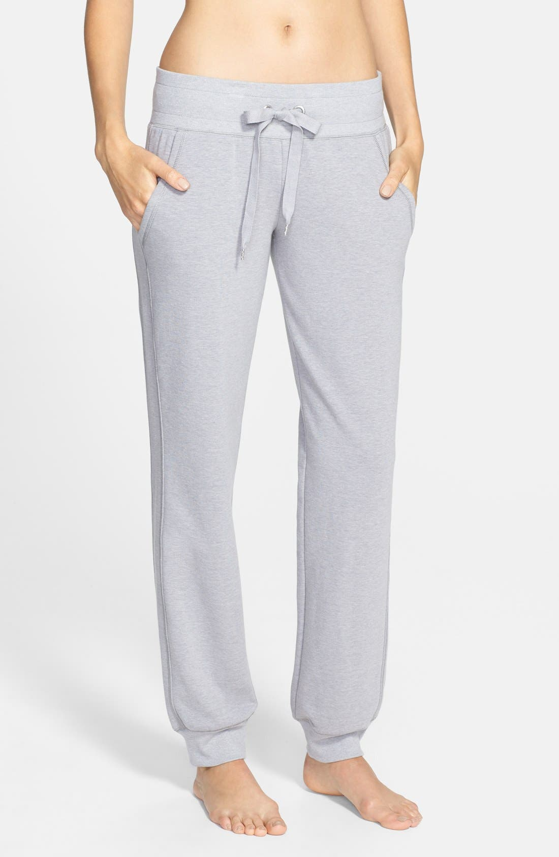 Main Image - Zella Low Rise Skinny Fleece Sweatpants (Online Only)