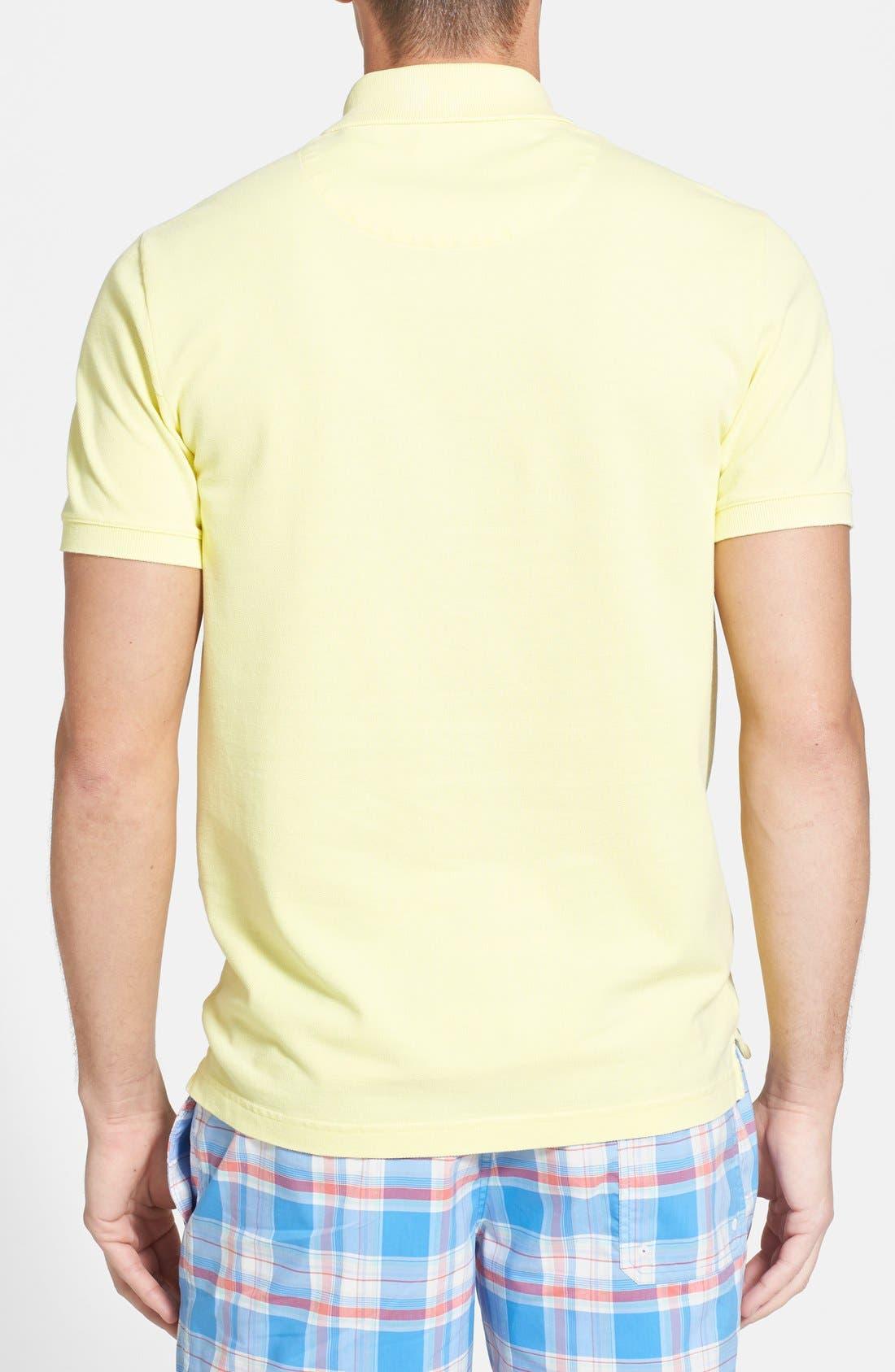 Alternate Image 2  - Lacoste Garment Dyed Piqué Polo