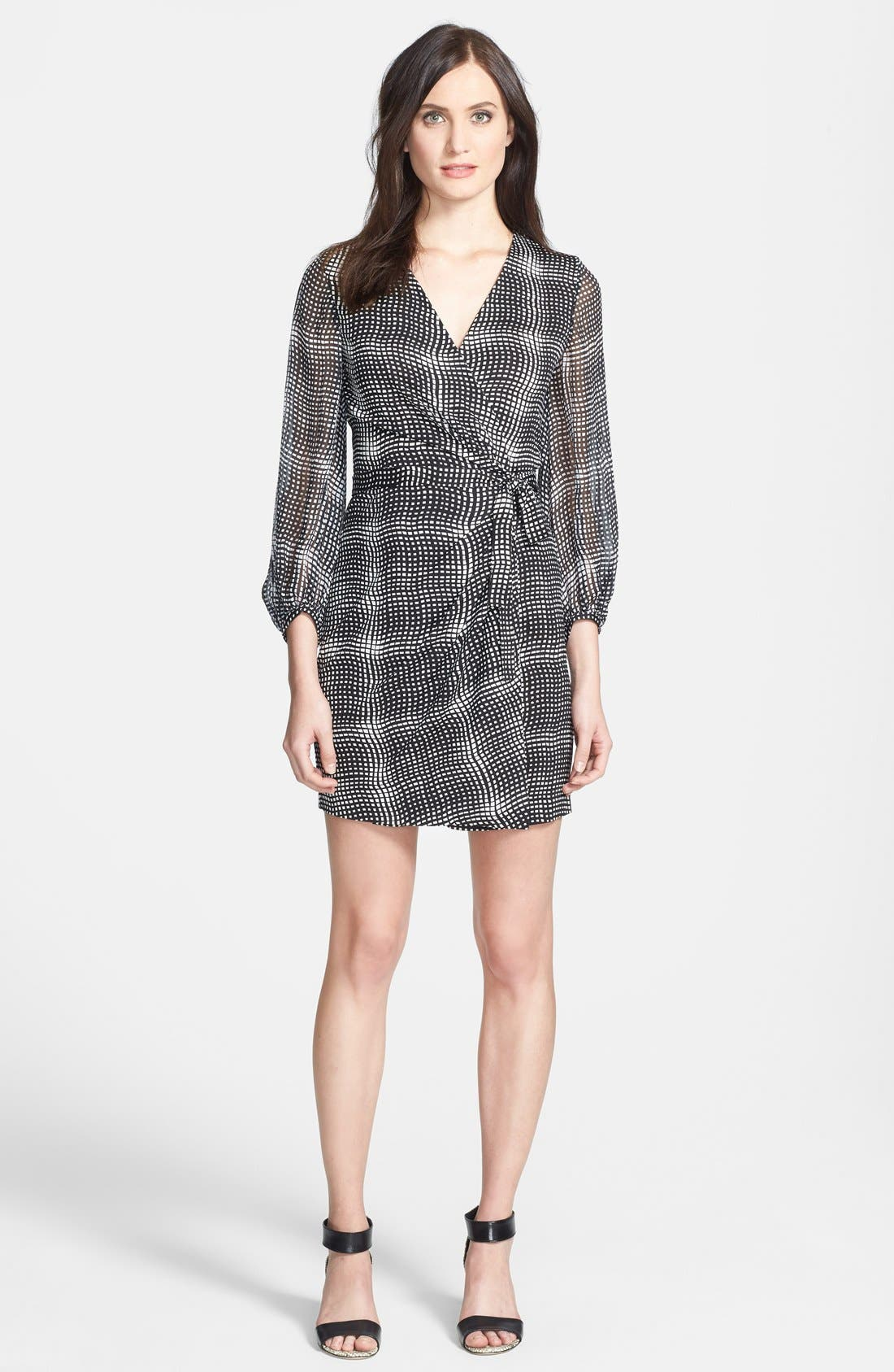 Alternate Image 1 Selected - Diane von Furstenberg 'Sigourney' Print Silk Wrap Dress