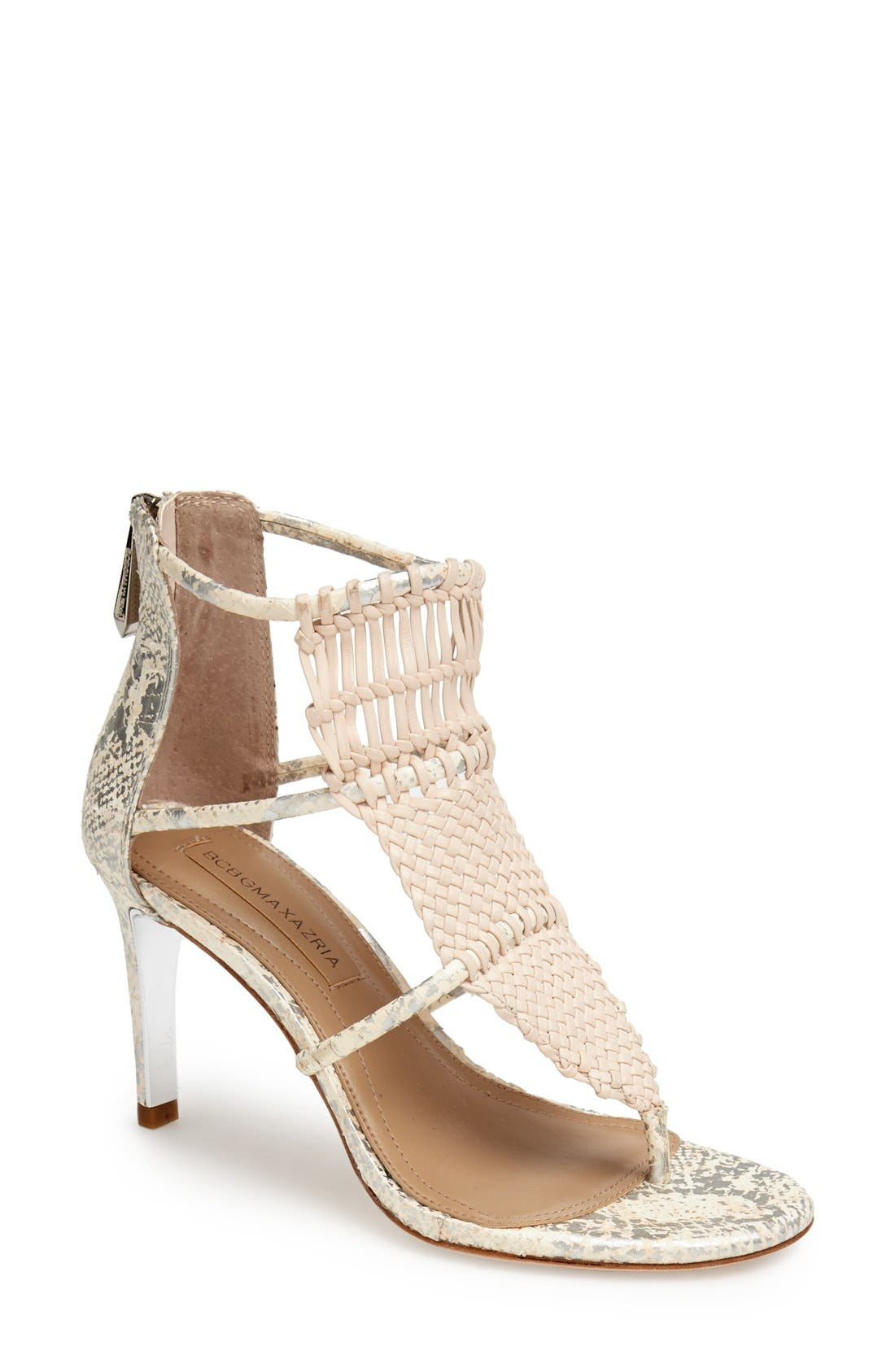Main Image - BCBGMAXAZRIA Caged Leather Sandal