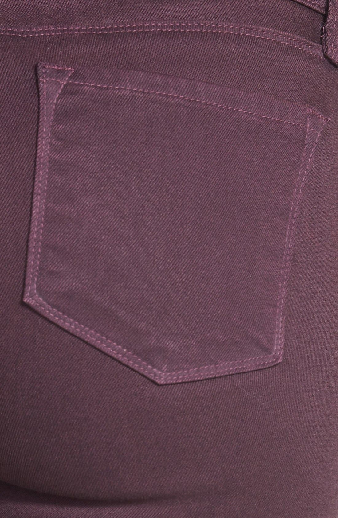 Alternate Image 3  - J Brand '485' Skinny Jeans (Dark Plum)
