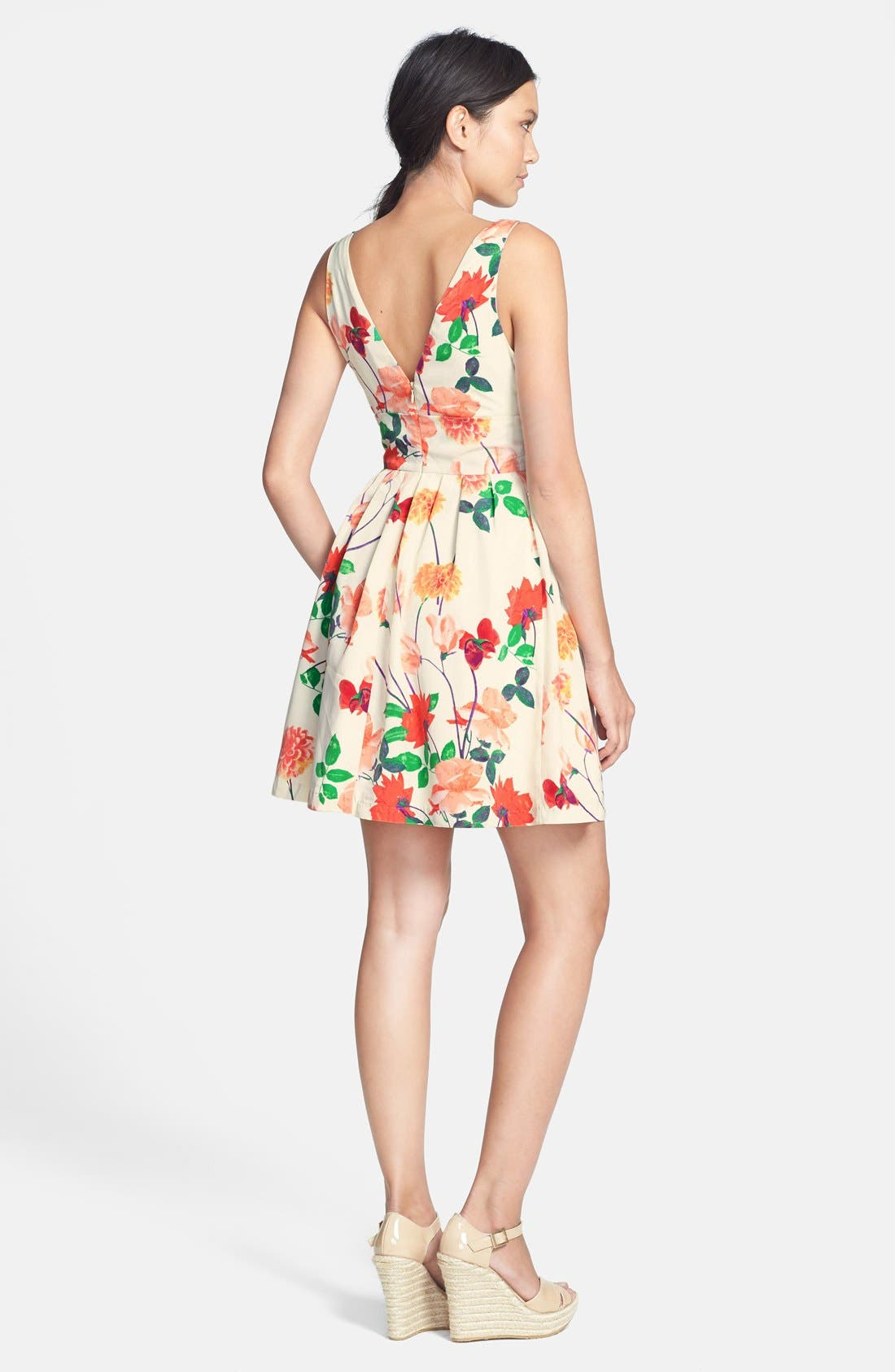 Alternate Image 2  - BB Dakota 'Basha' Floral Print Fit & Flare Dress