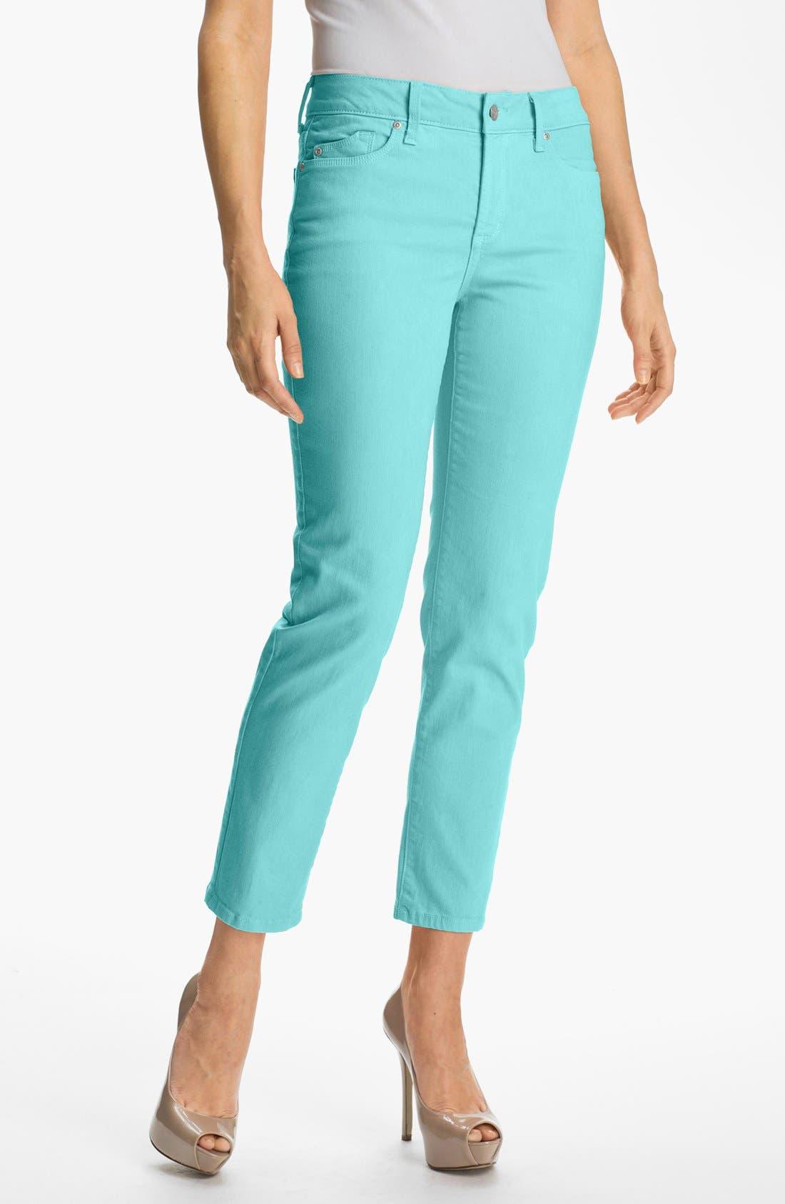 Main Image - NYDJ 'Alisha' Colored Stretch Ankle Skinny Jeans