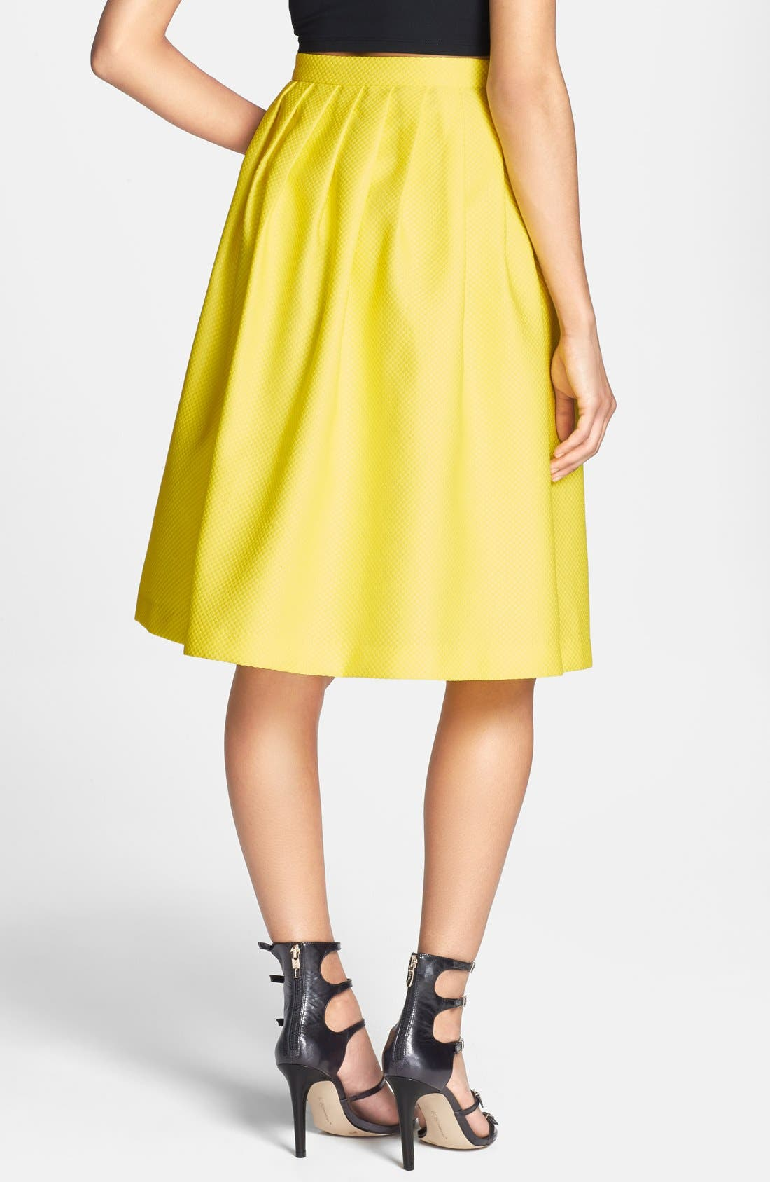 Alternate Image 2  - Lucy Paris Textured Full Midi Skirt