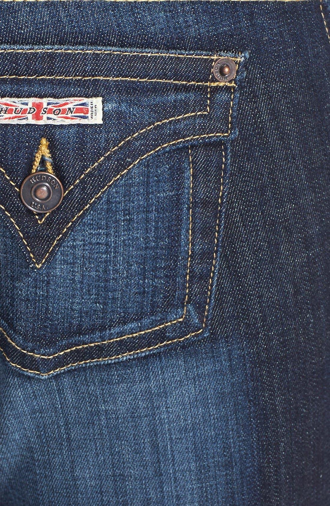 Alternate Image 3  - Hudson Jeans Signature Bootcut Stretch Jeans (Elm) (Petite)
