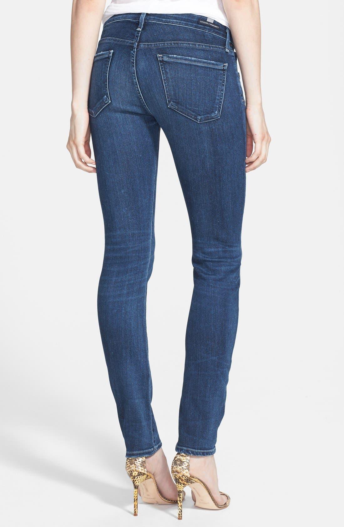 Arielle Slim Jeans,                             Alternate thumbnail 2, color,                             Hewett
