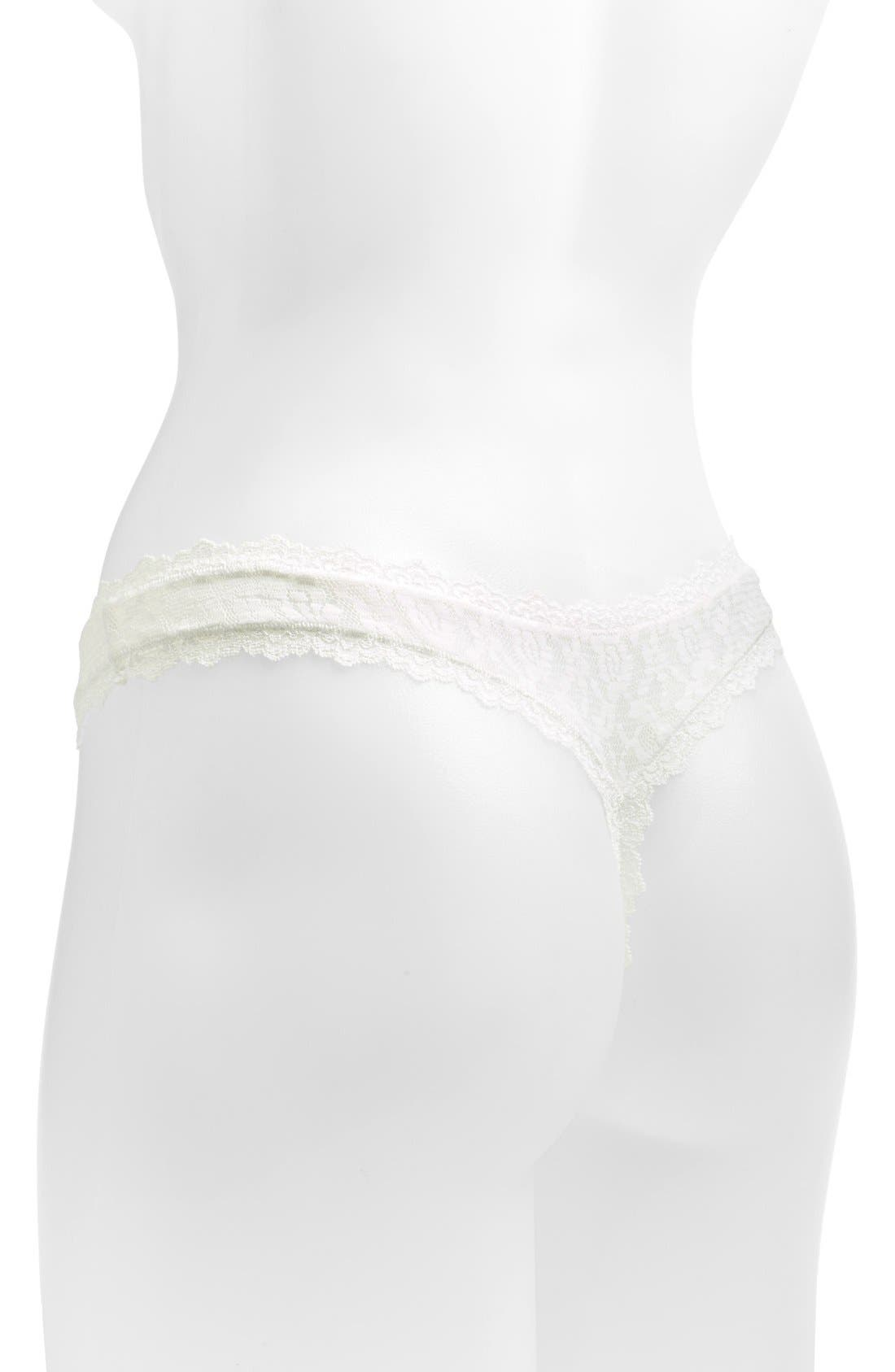 Alternate Image 2  - Free People 'Dreams Do Come True' Stretch Lace Thong