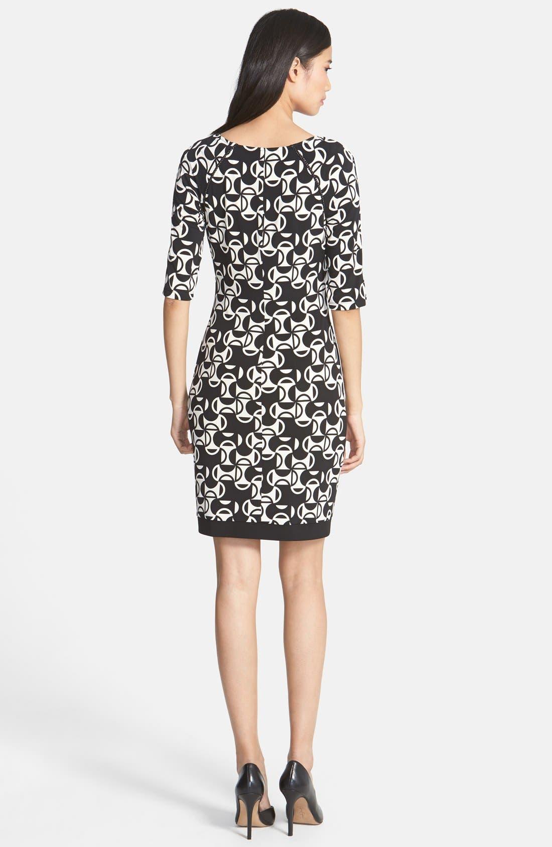 Alternate Image 2  - Donna Morgan Print Matte Jersey Sheath Dress