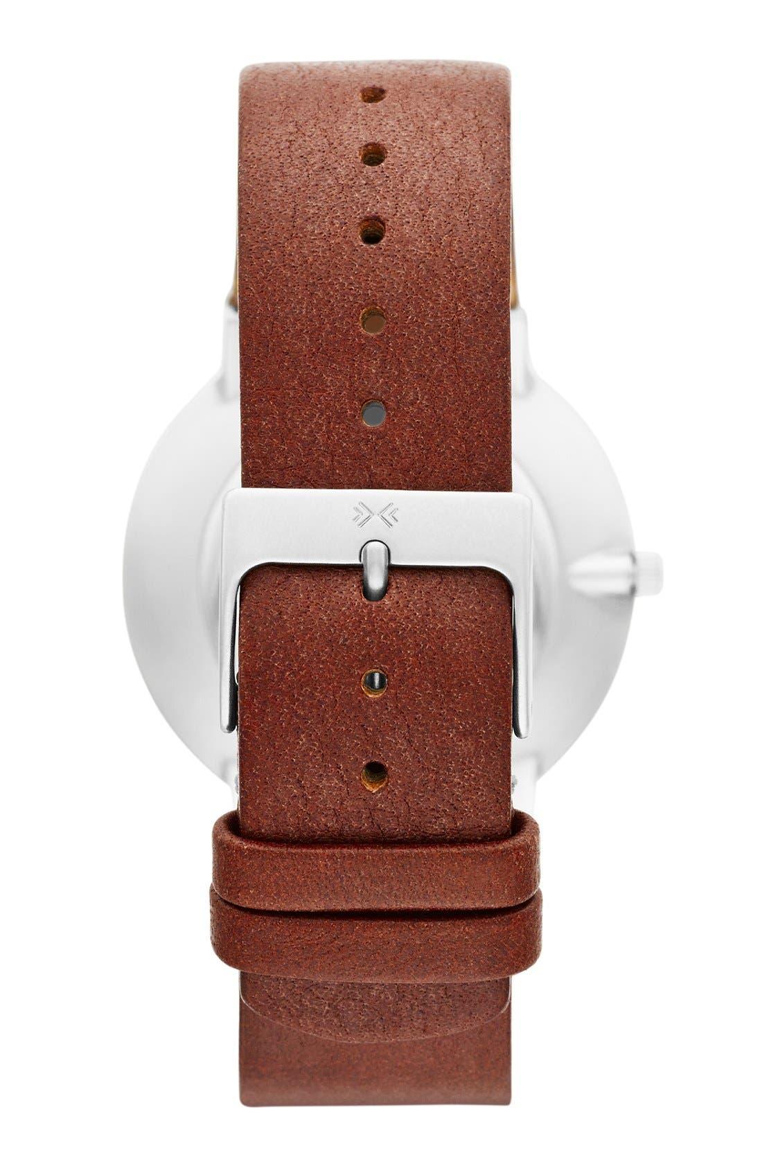 Alternate Image 2  - Skagen 'Ancher' Round Leather Strap Watch, 36mm
