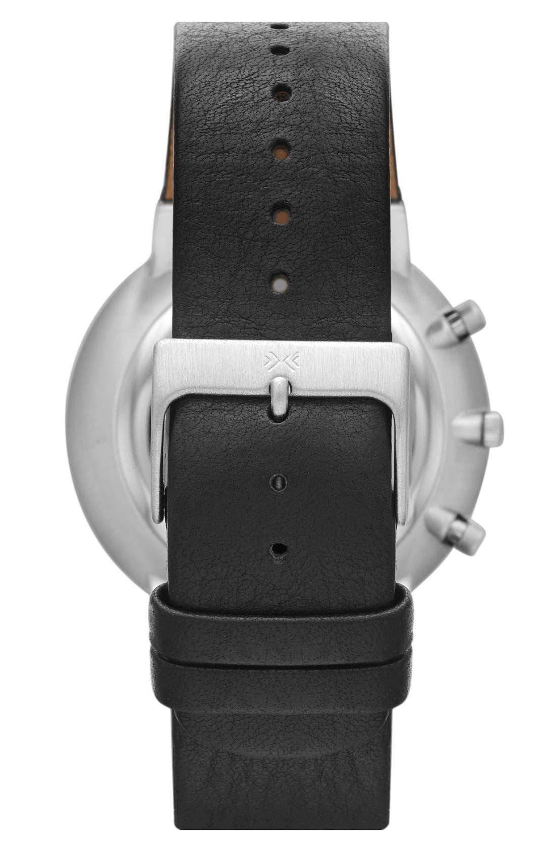 Alternate Image 2  - Skagen 'Ancher' Round Chronograph Leather Strap Watch, 40mm