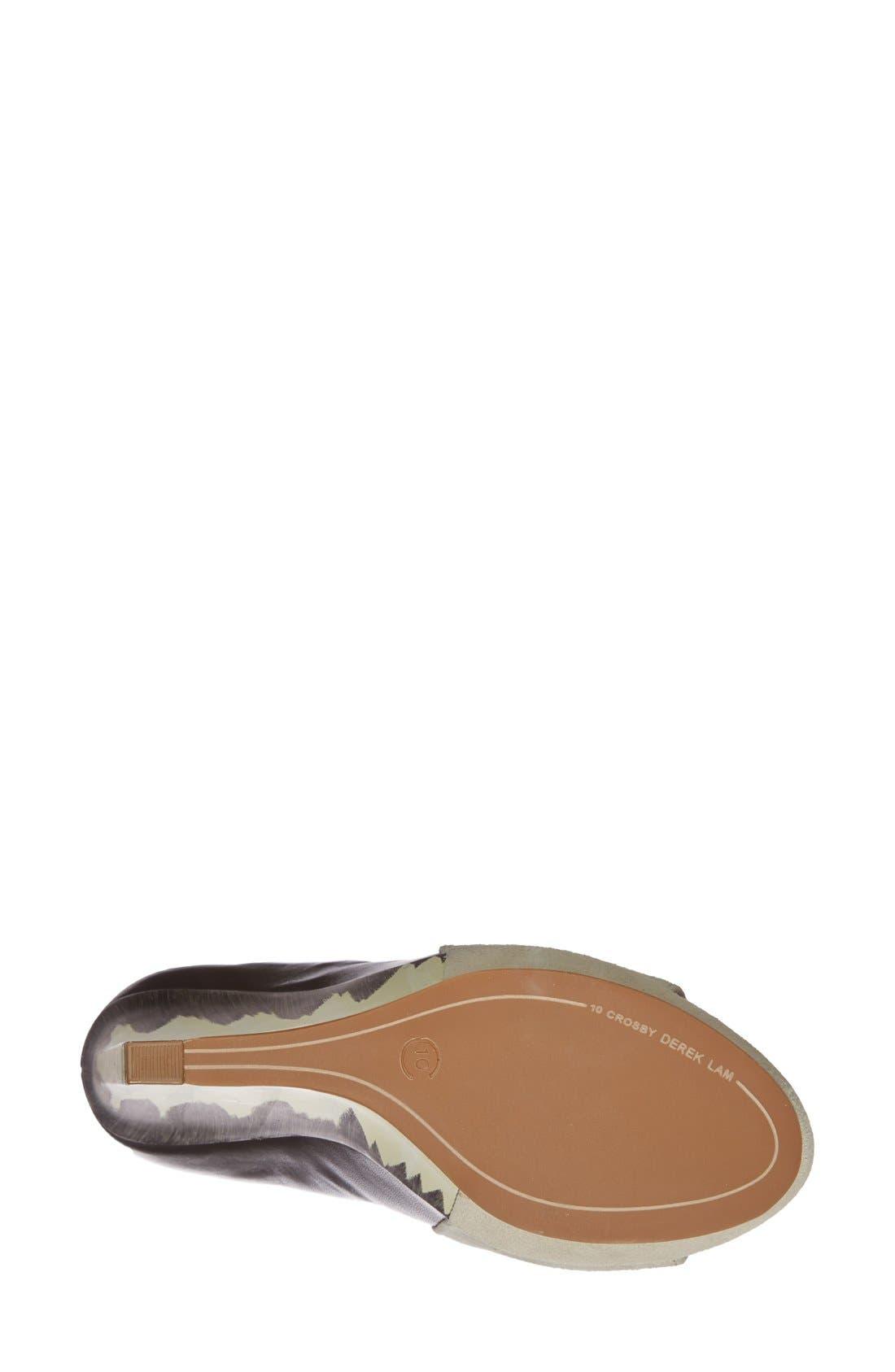 Alternate Image 4  - Derek Lam 10 Crosby 'Gerri' Leather & Suede Open Toe Wedge Bootie