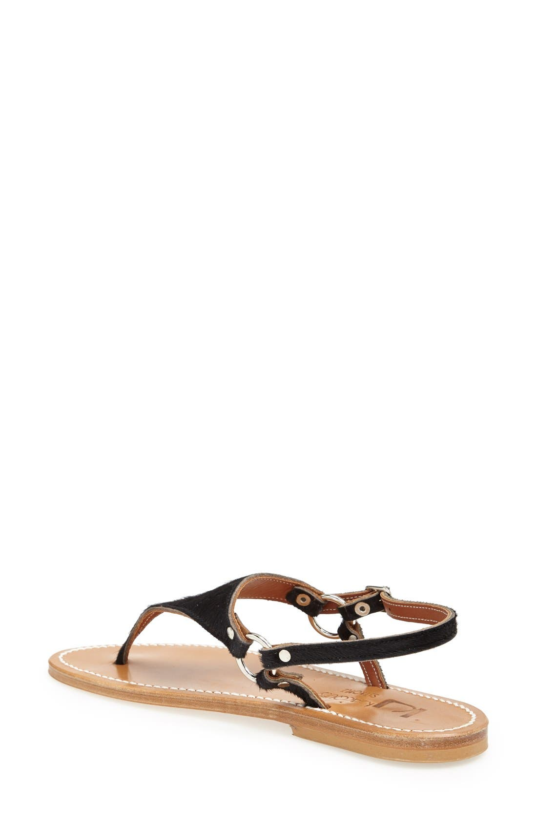 Alternate Image 2  - K.Jacques St. Tropez 'Triton' V Strap Calf Hair Thong Sandal (Women)