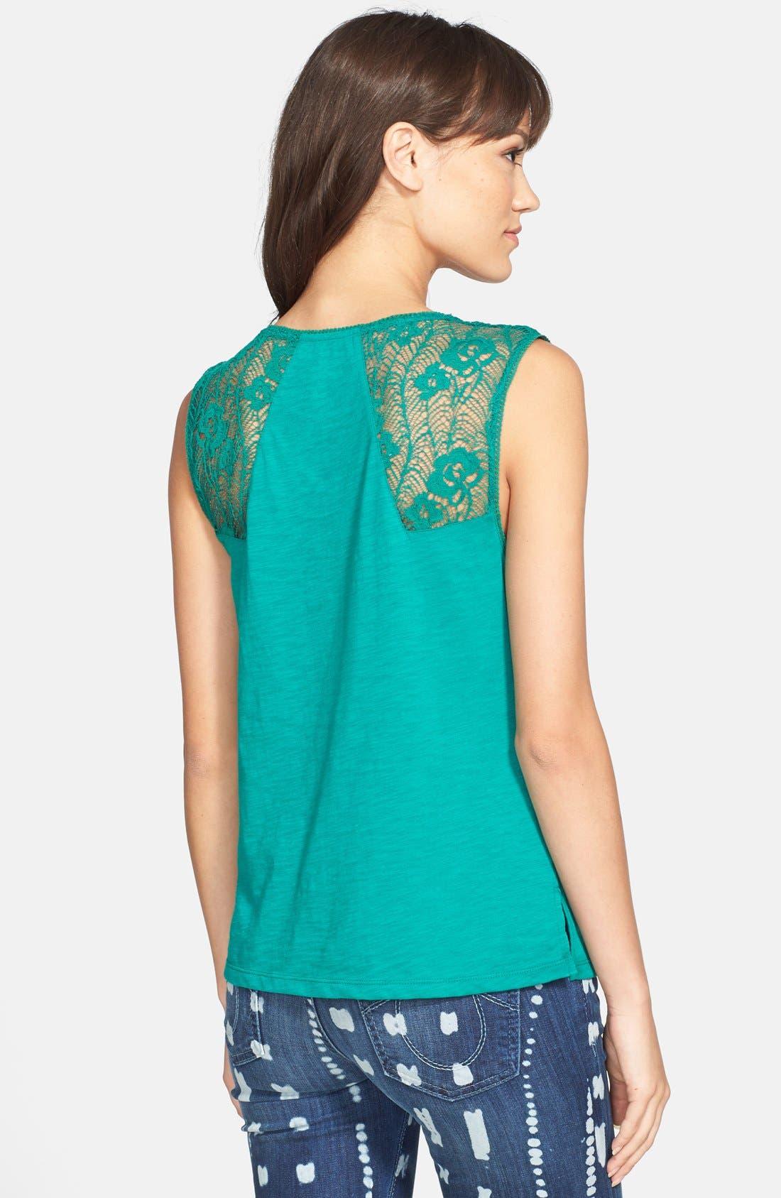 Alternate Image 2  - Hinge® Lace Inset Slub Knit Tank