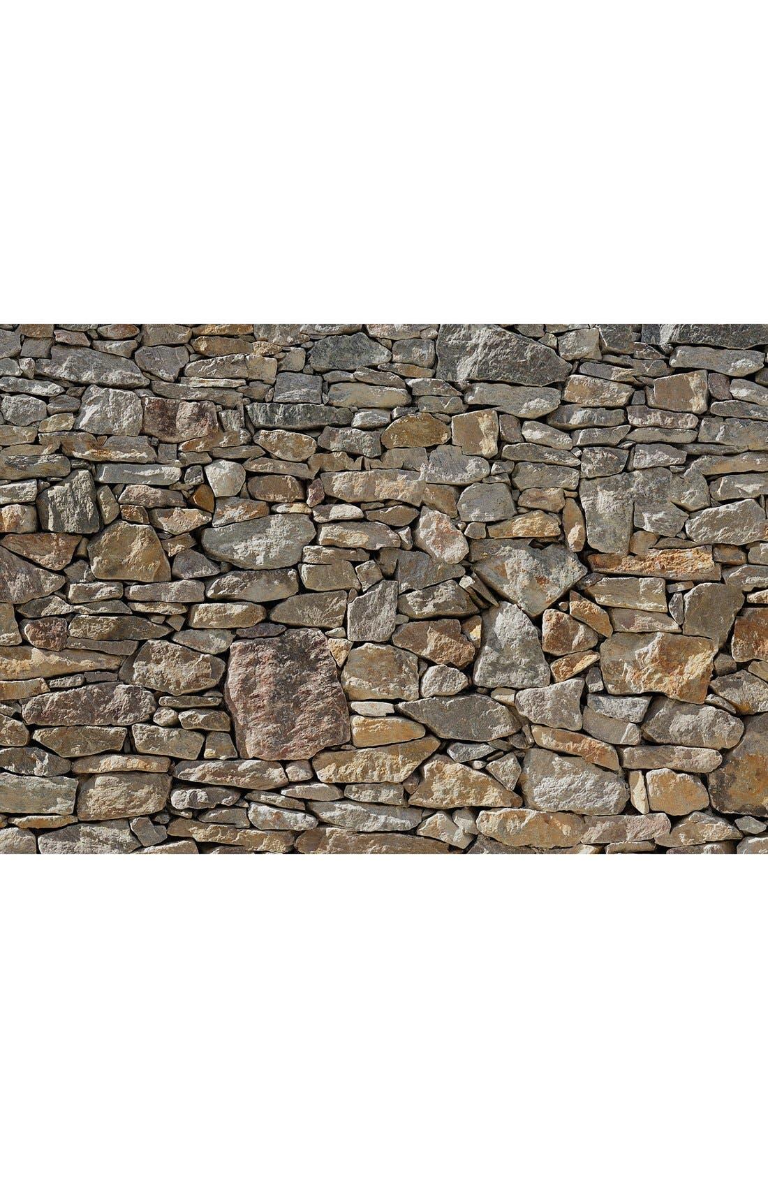 Stone Wall Mural,                         Main,                         color, Brown