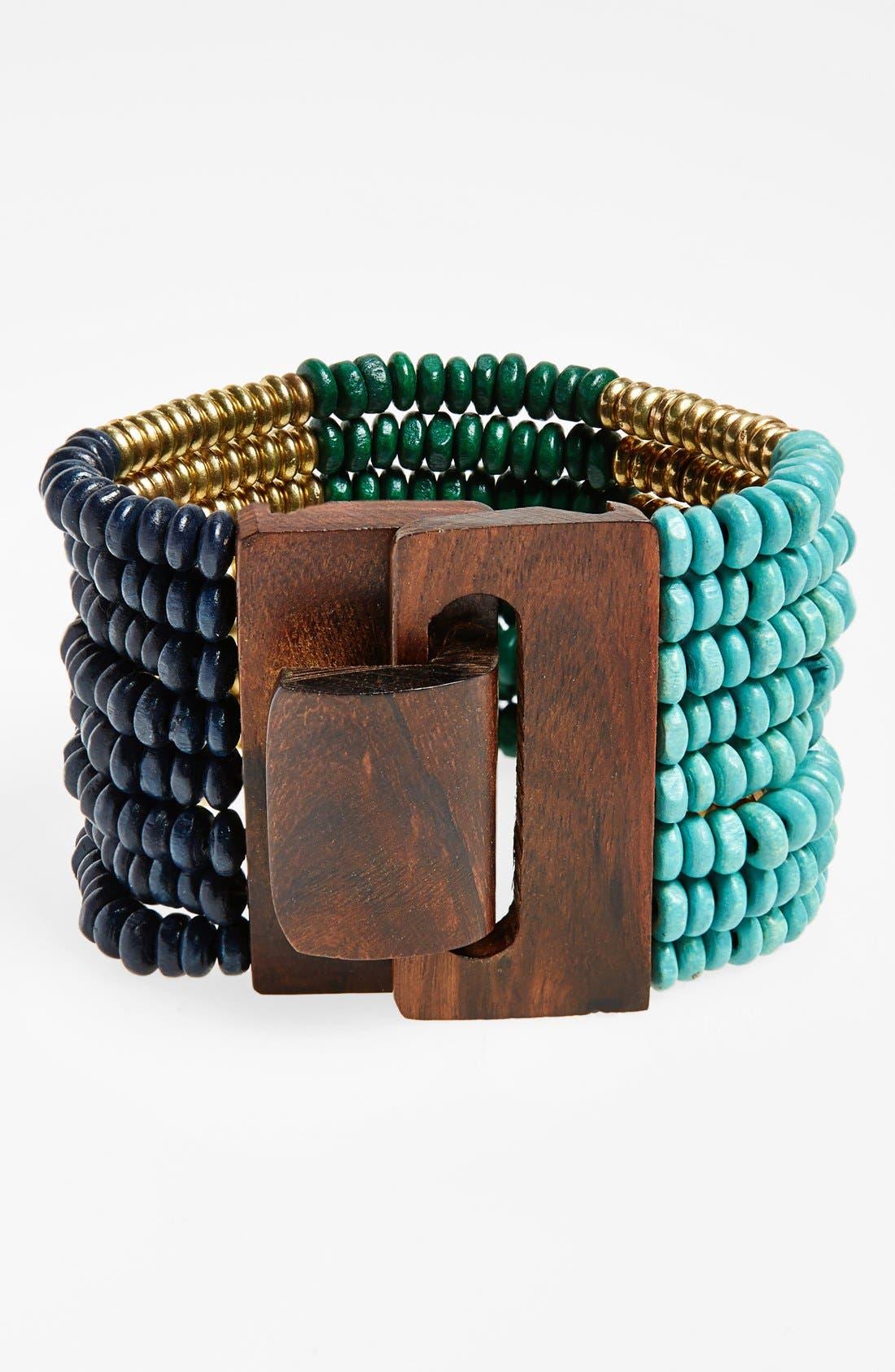 Alternate Image 1 Selected - Spring Street Beaded Stretch Bracelet