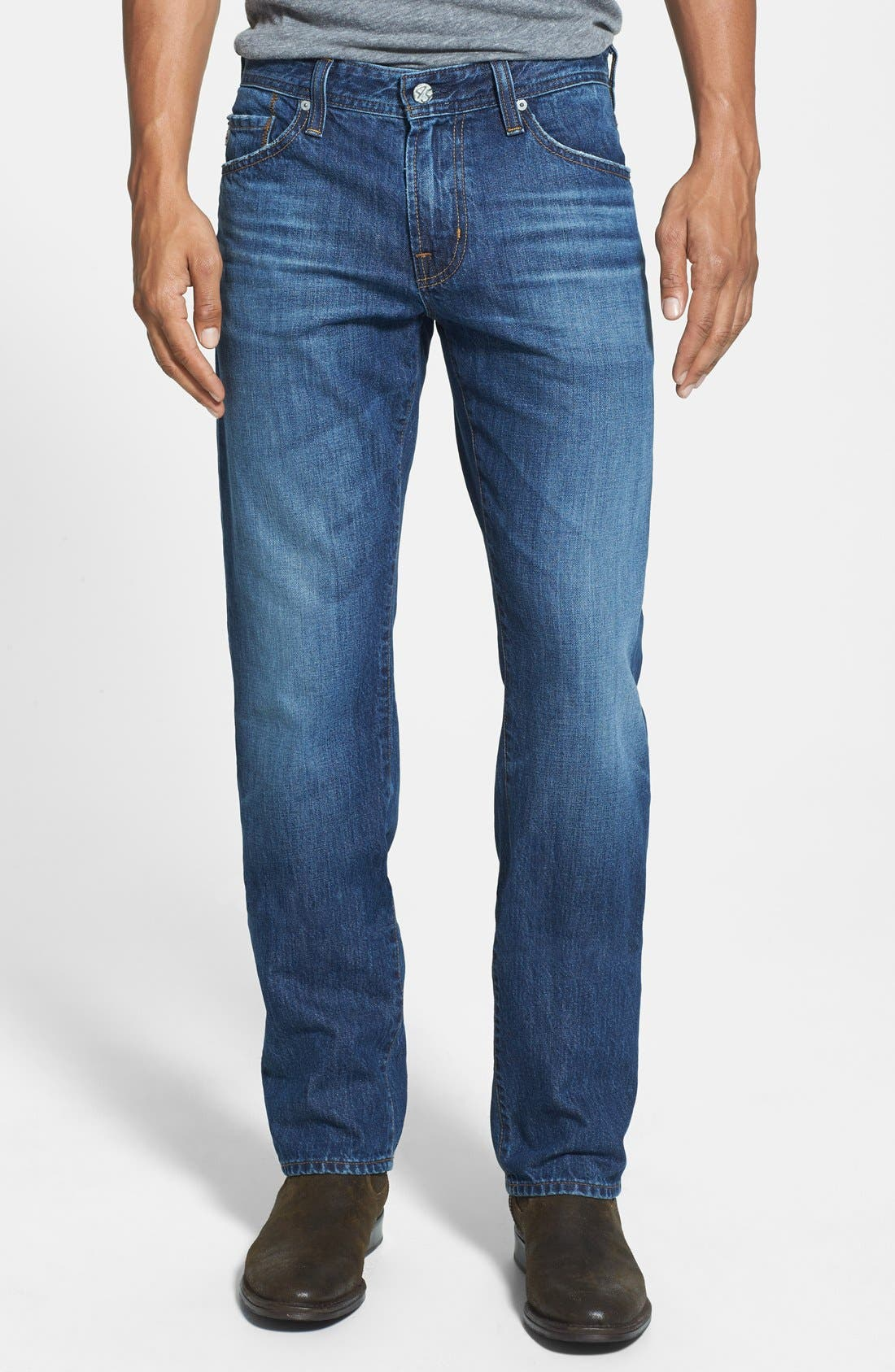 Main Image - AG 'Graduate' Tailored Fit Straight Leg Jeans (4 Year Idlewood)