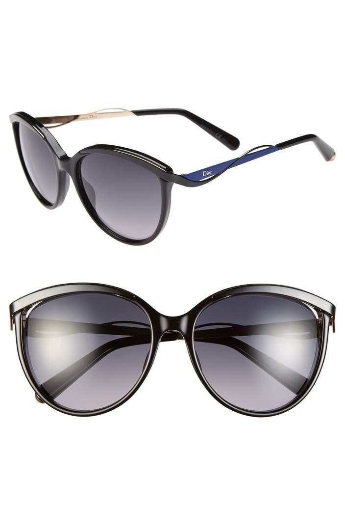 Christian Dior 'Metaleyes 1' 57mm Retro Sunglasses | Nordstrom