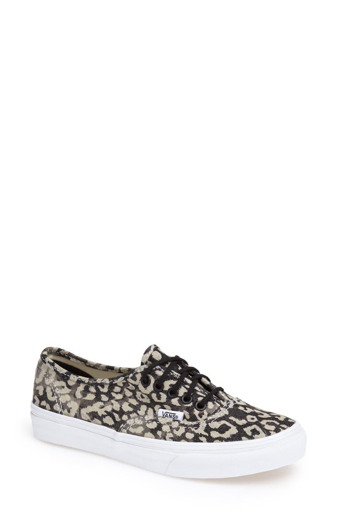 Main Image  Vans Authentic  Slim Leopard Print Sneaker Women