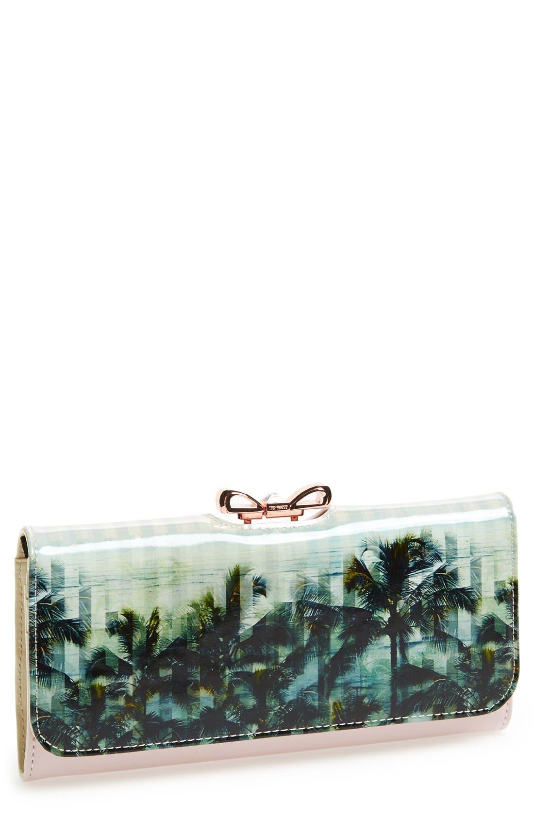 Main Image - Ted Baker London Palm Tree Print Matinee Wallet