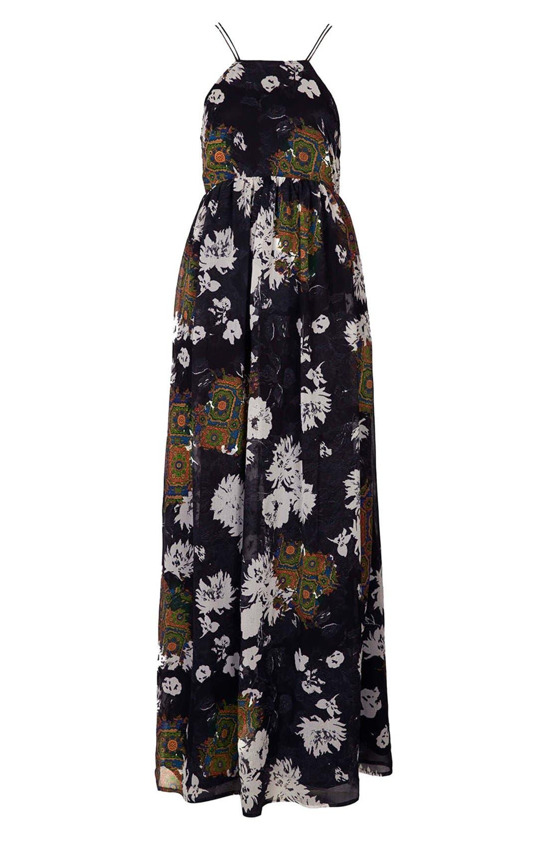 Alternate Image 3  - Topshop Folk Print Maxi Dress