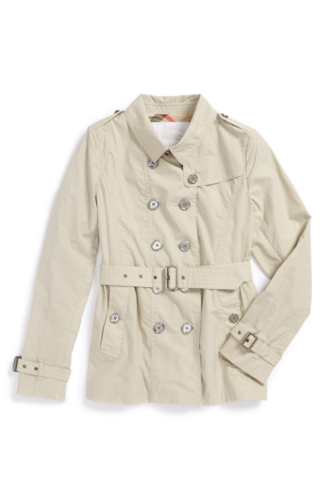 Main Image - Burberry Trench Coat (Little Girls & Big Girls)