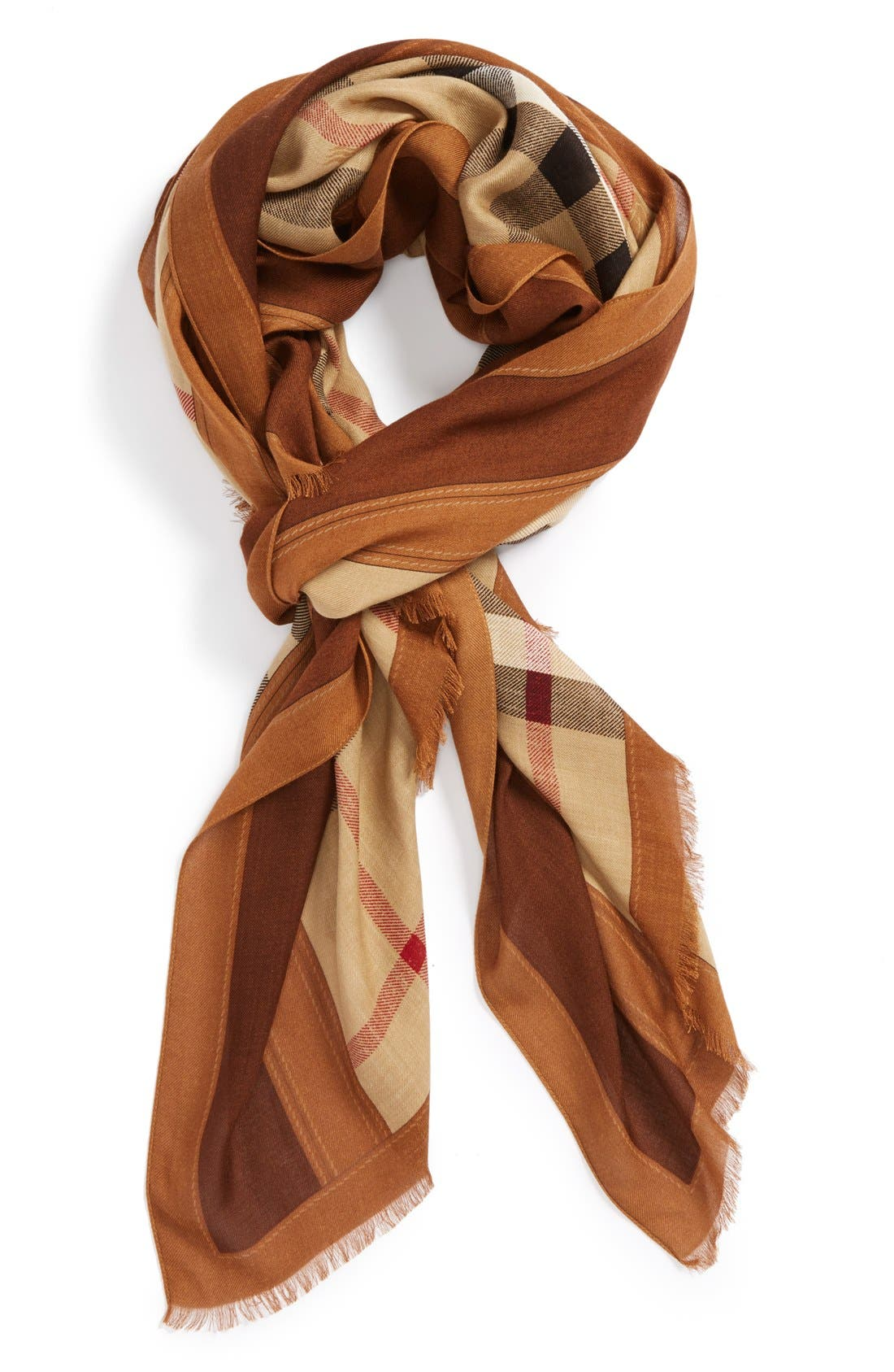 Alternate Image 1 Selected - Burberry 'Haymarket Check' Modal & Cashmere Scarf