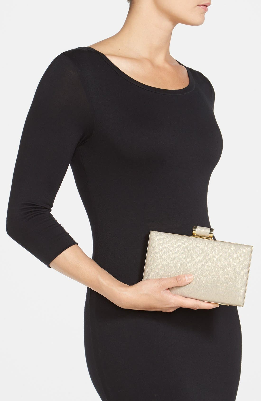 Alternate Image 2  - Ivanka Trump Faux Leather Minaudiere Clutch