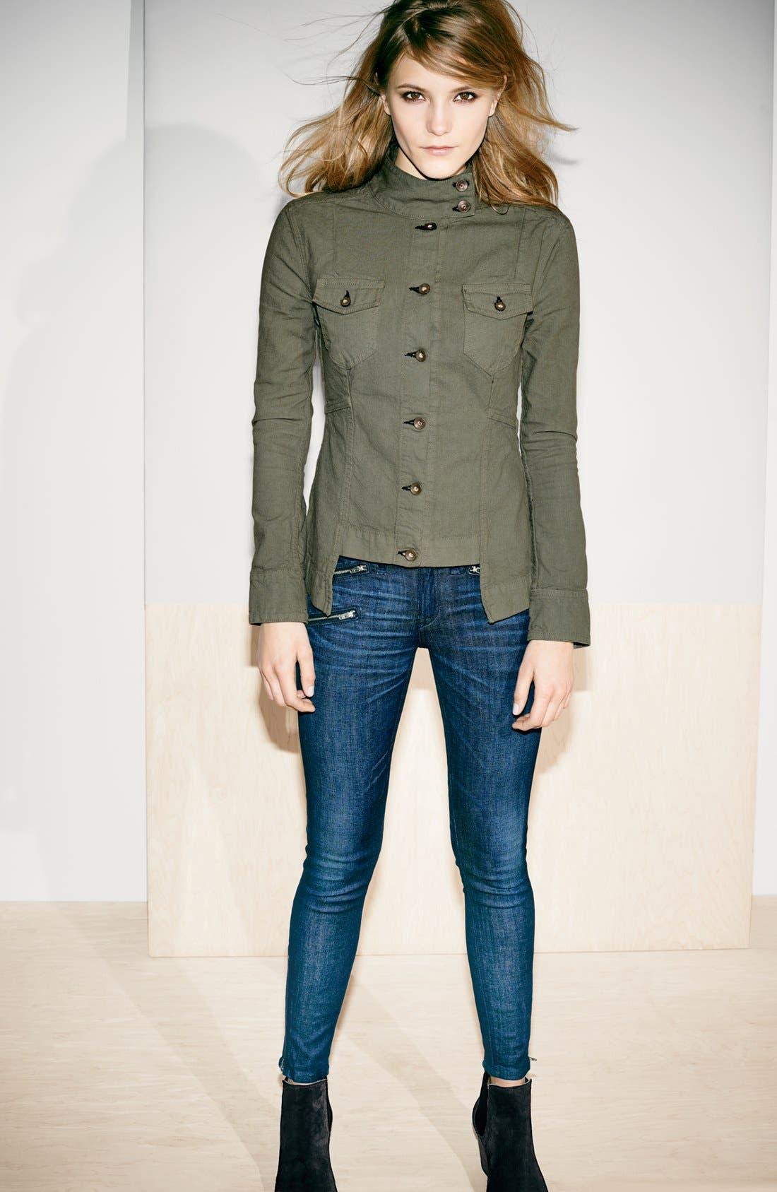 Alternate Image 8  - rag & bone/JEAN Zip Detail Skinny Jeans (Kensington) (Nordstrom Exclusive)